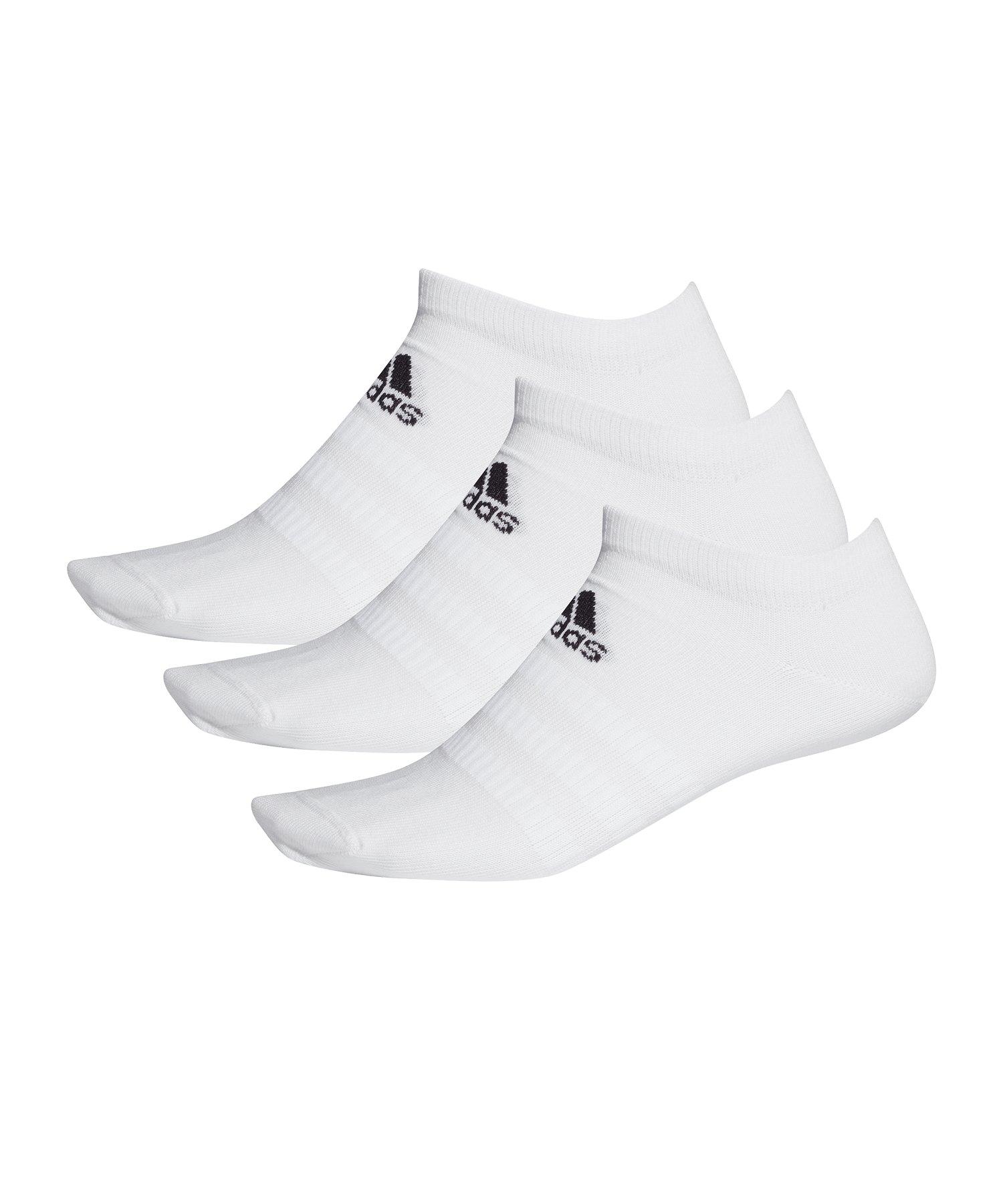 adidas Light Low Socken 3er Pack Weiss - weiss