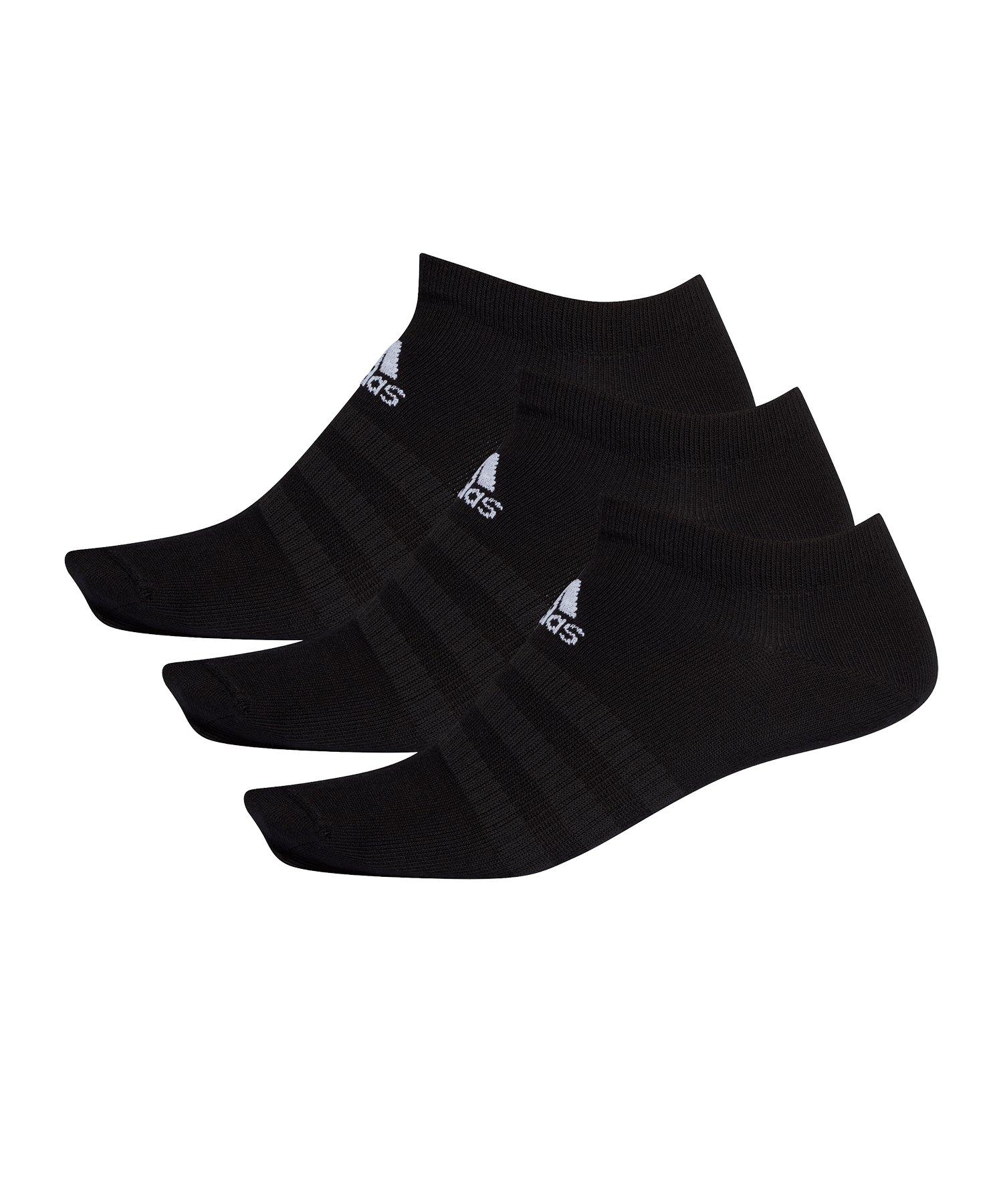 adidas Light Low Socken 3er Pack Schwarz - schwarz