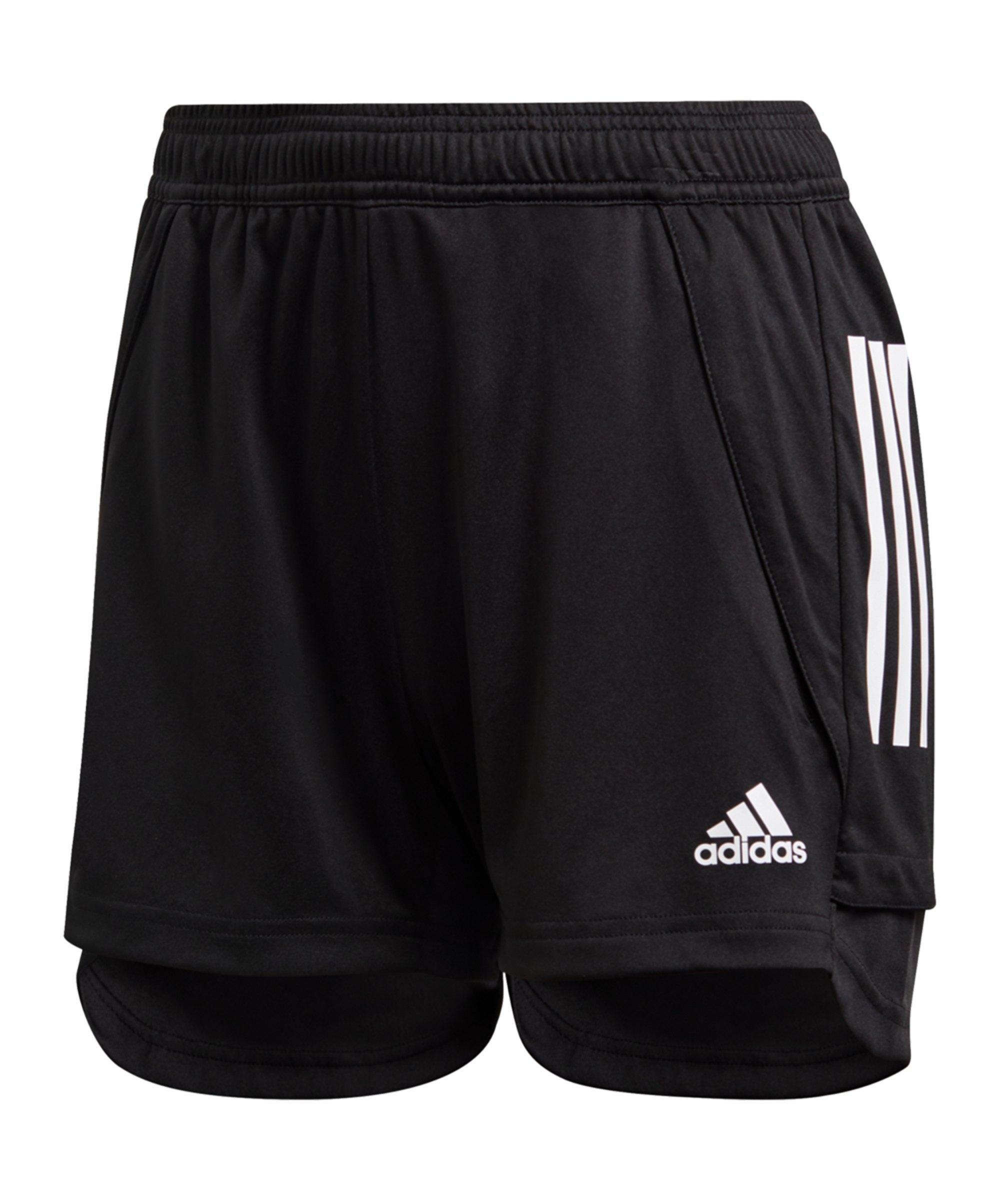 adidas Condivo 20 Short Damen Schwarz Weiss - schwarz