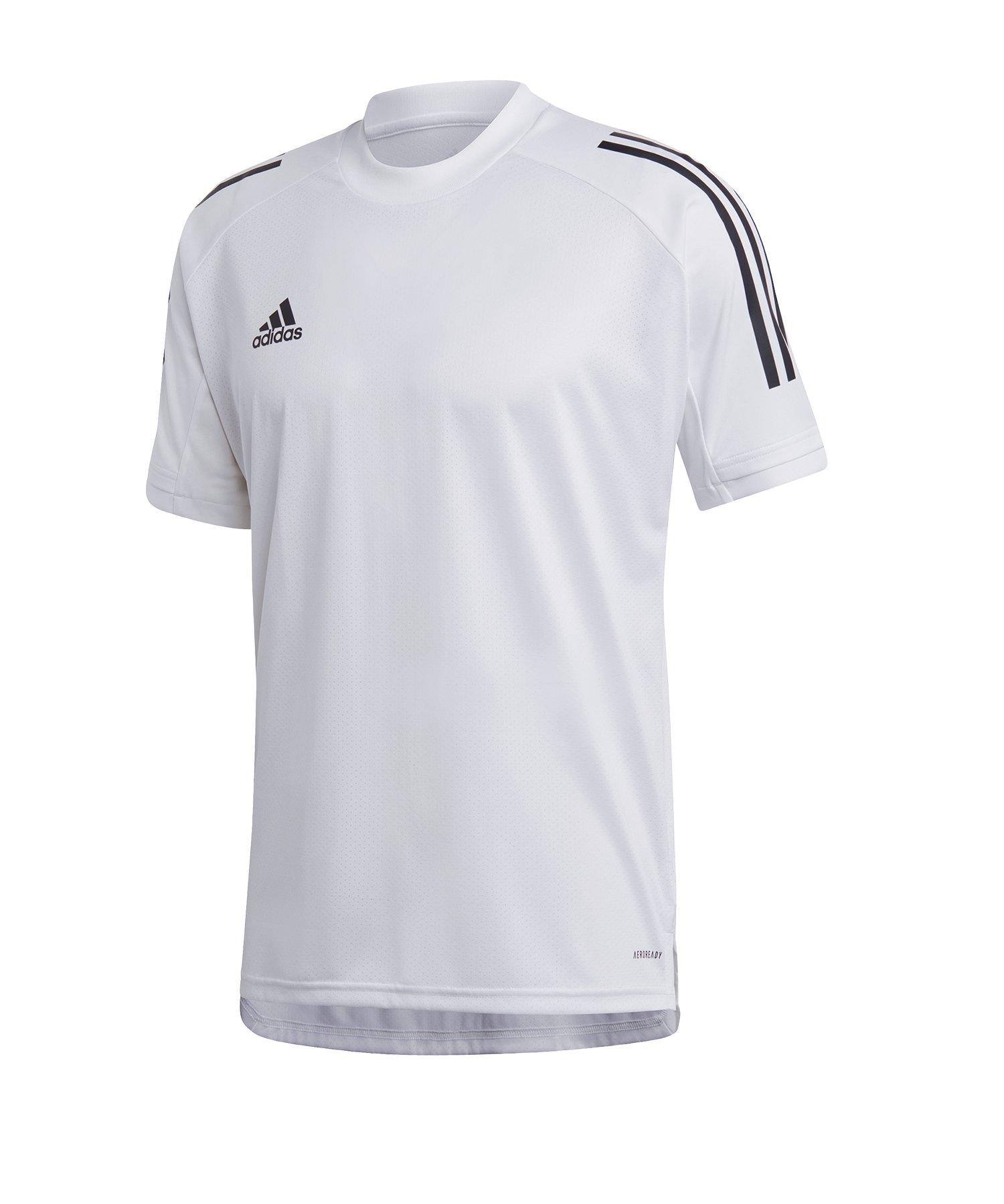 adidas Condivo 20 Trainingsshirt Weiss Schwarz - weiss