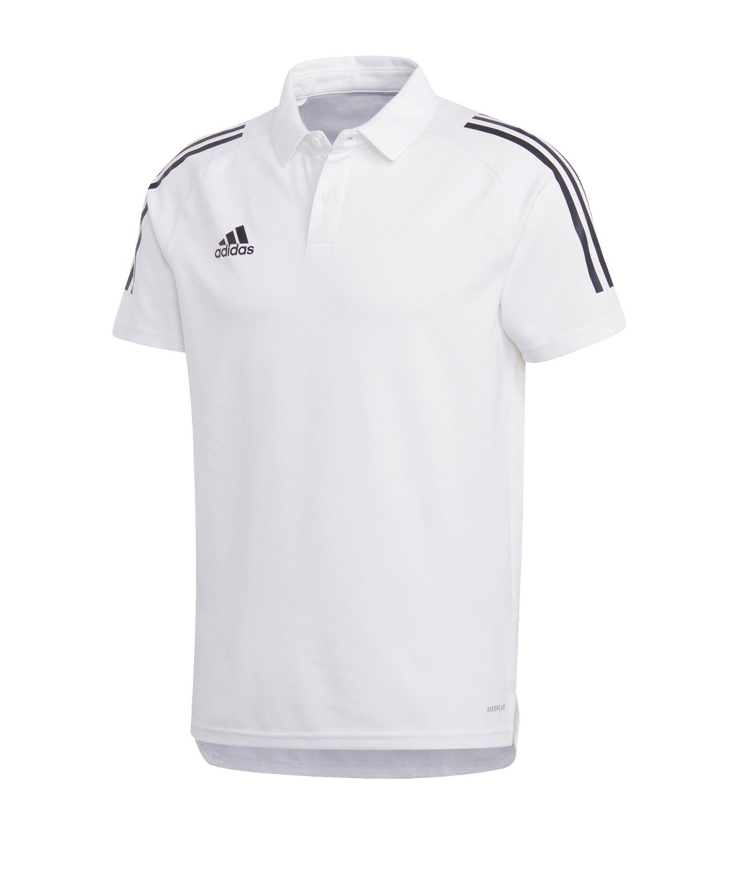 adidas Condivo 20 Poloshirt Weiss Schwarz - weiss