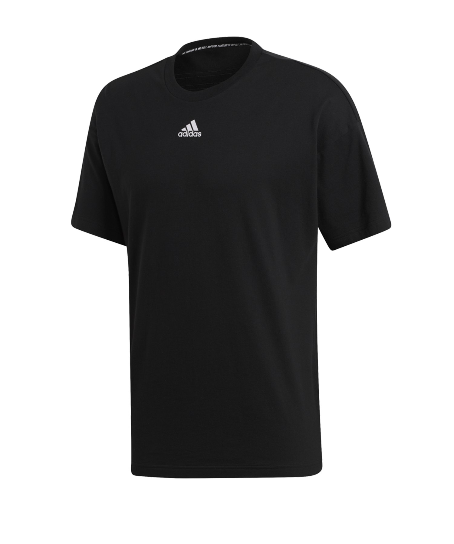 adidas MH 3 Stripes T-Shirt Schwarz - schwarz