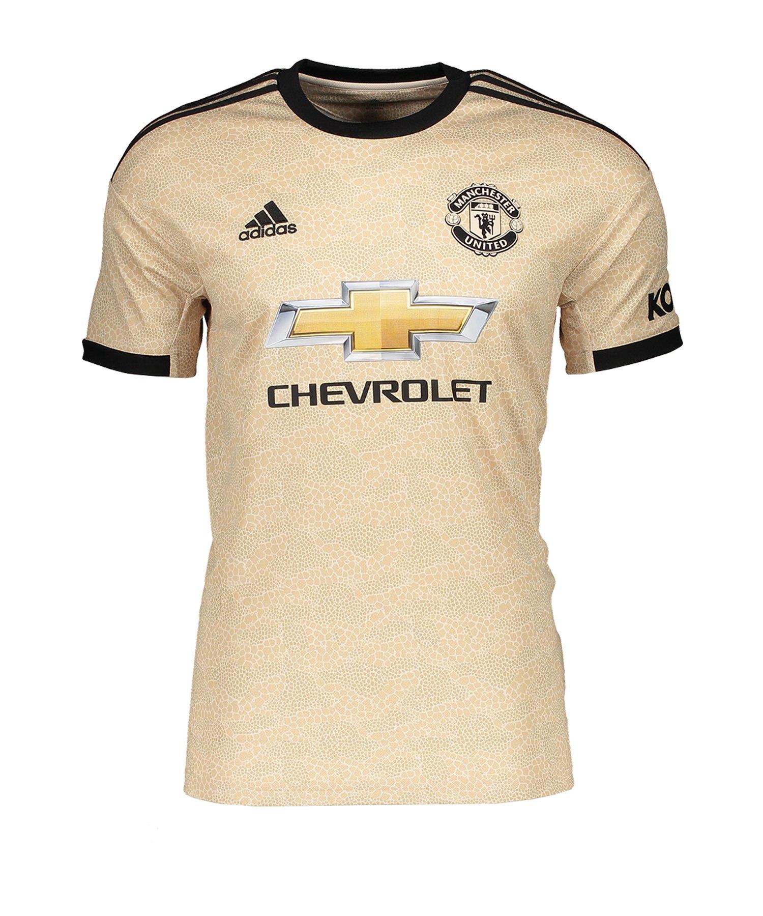 adidas Manchester United Trikot Away 2019/2020 - beige