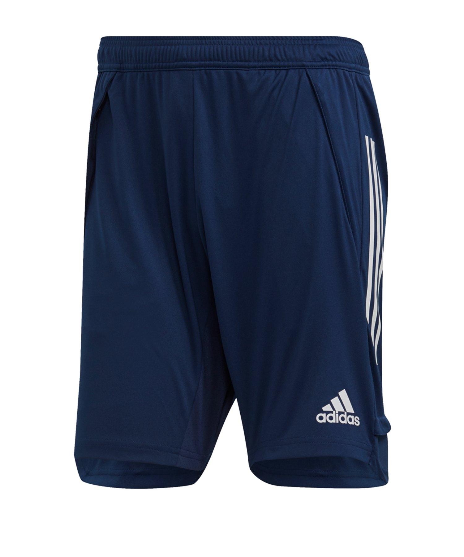 adidas Condivo 20 Trainingsshort Dunkelblau Weiss - blau