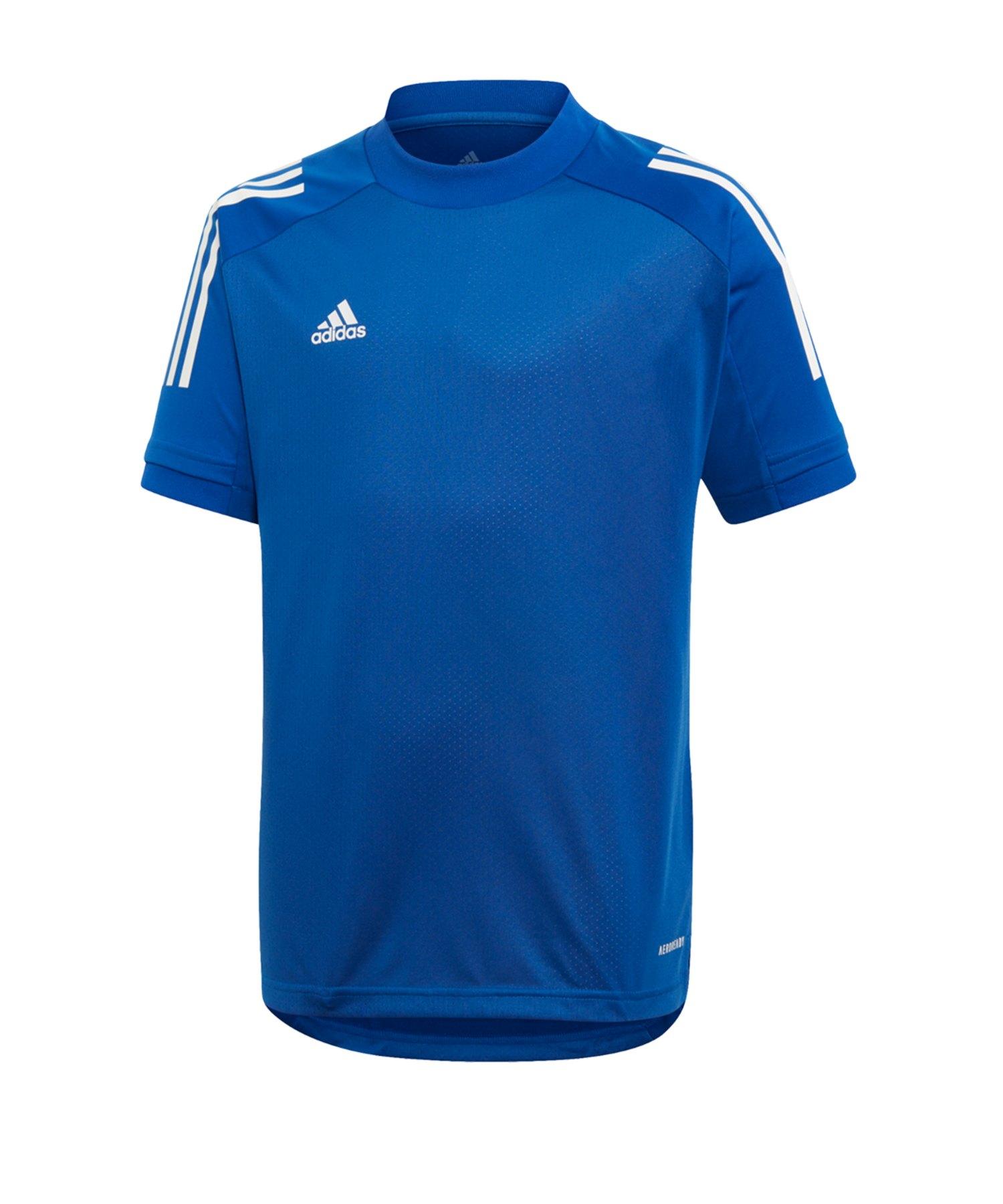 adidas Condivo 20 TR Shirt kurzarm Kids Blau - blau
