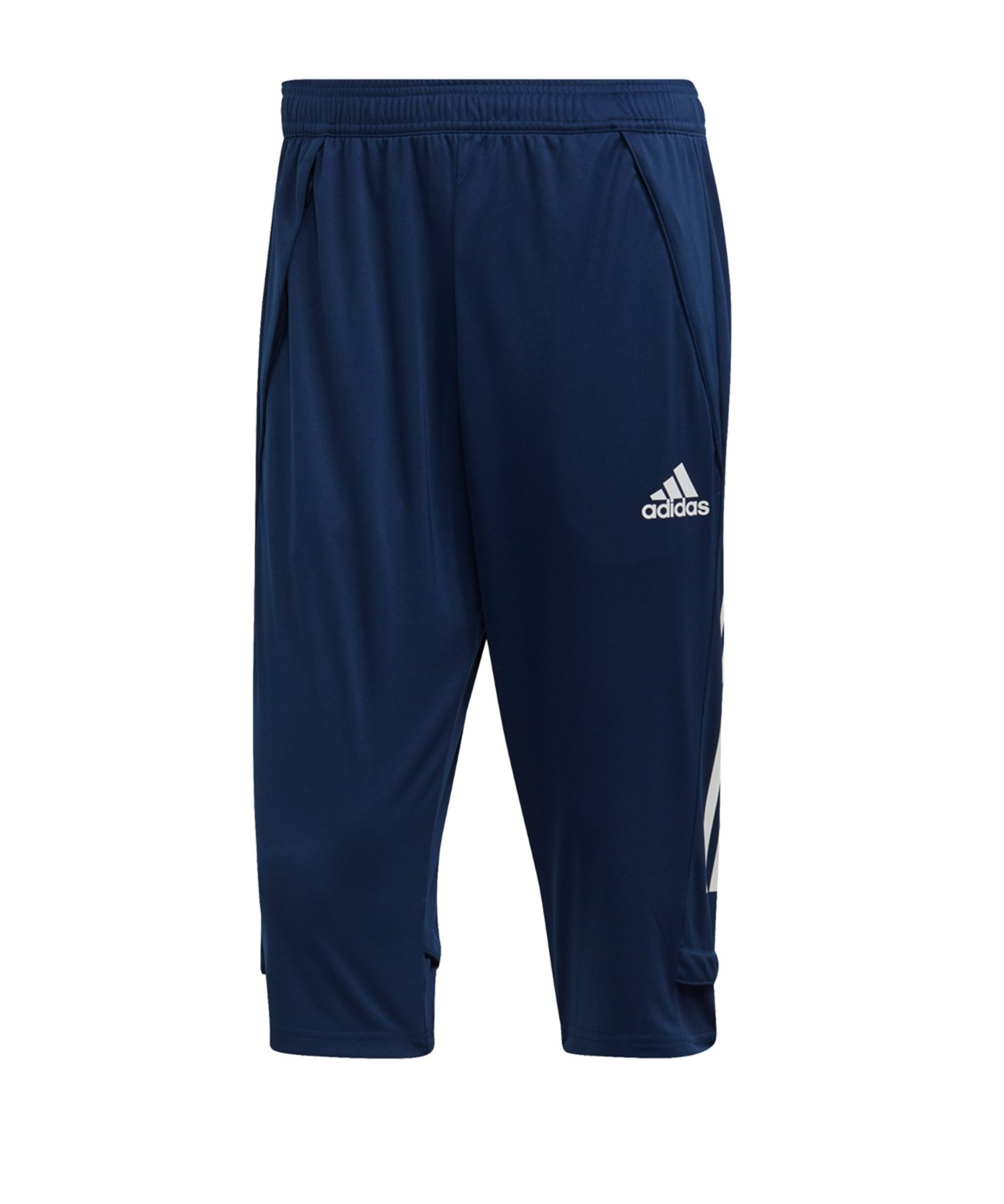 adidas Condivo 20 3/4 Hose Blau Weiss - blau