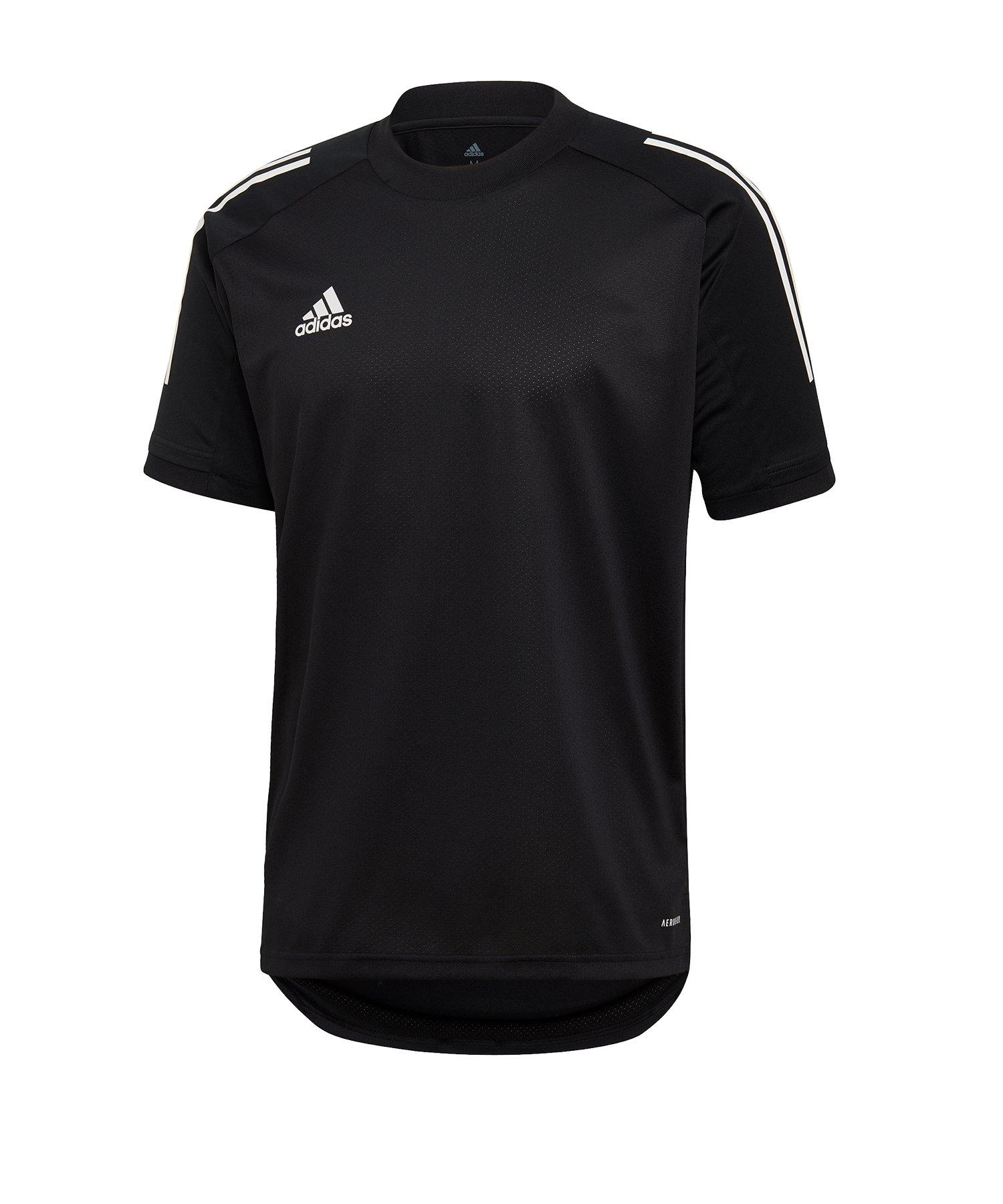 adidas Condivo 20 Trainingsshirt Schwarz Weiss - schwarz