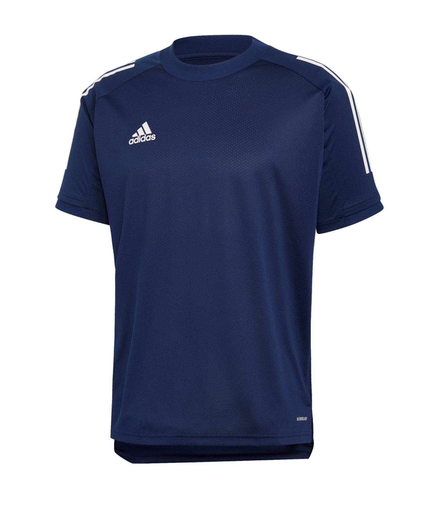 adidas Condivo 20 TR Shirt kurzarm Blau Weiss - blau