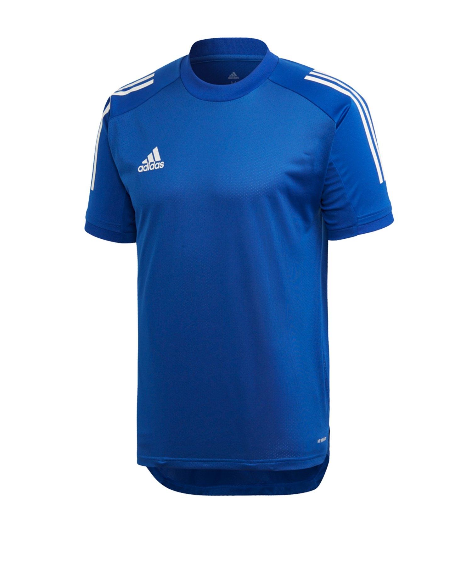 adidas Condivo 20 TR Shirt kurzarm Blau - blau