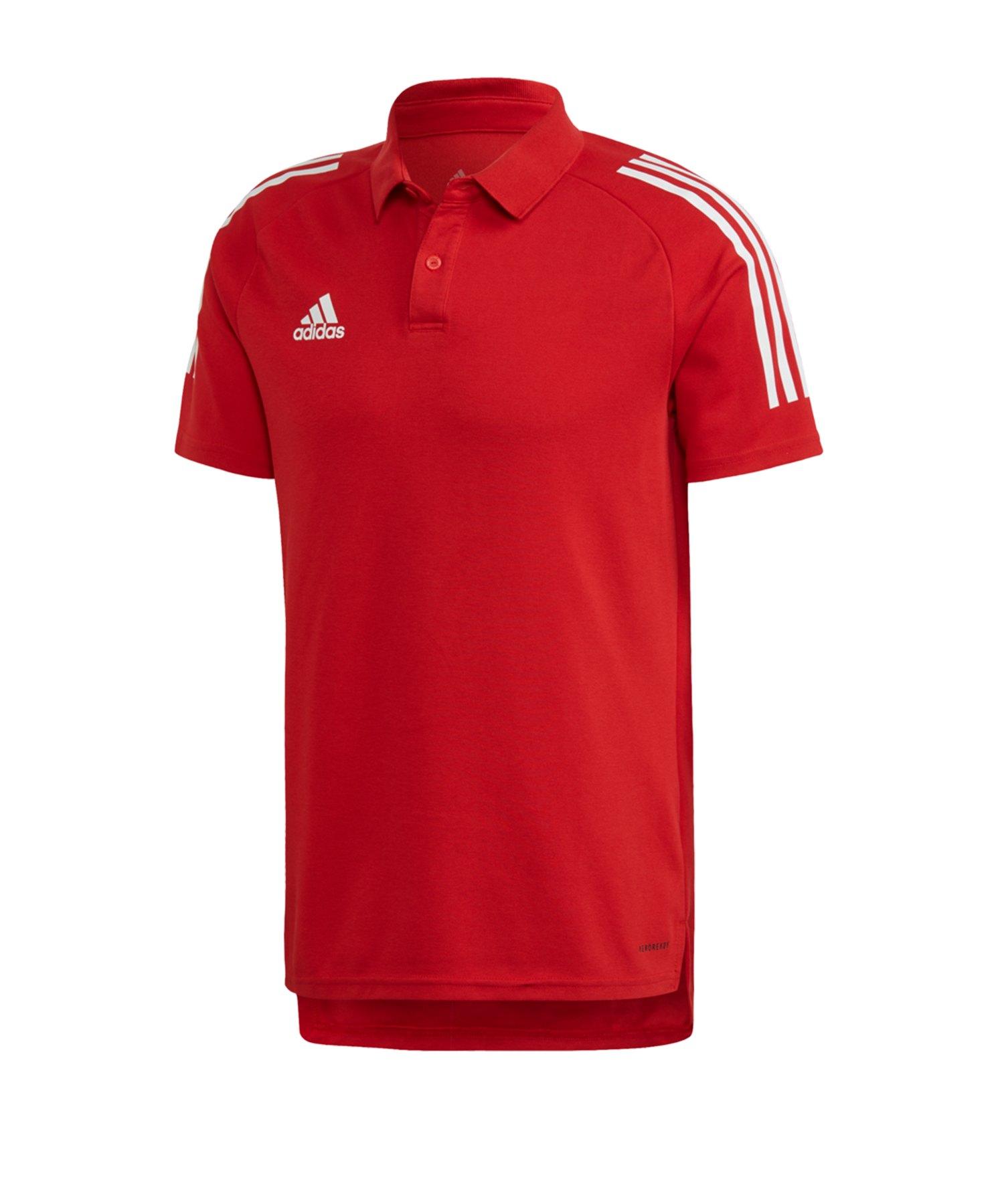 adidas Condivo 20 Poloshirt Rot Weiss - rot