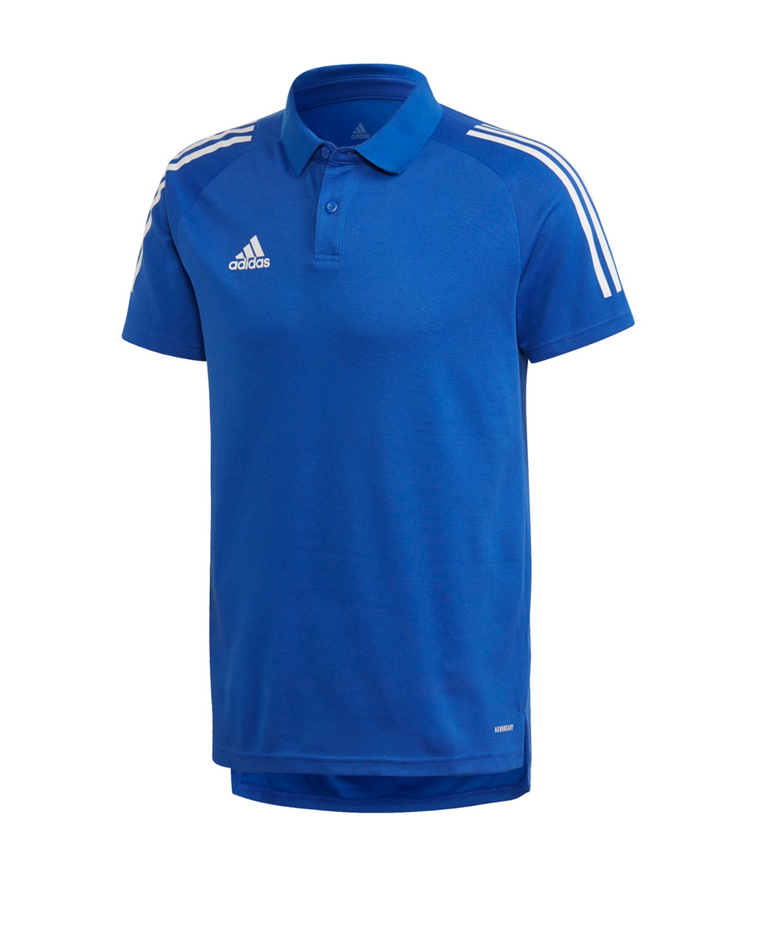 adidas Condivo 20 Poloshirt Blau Weiss - blau