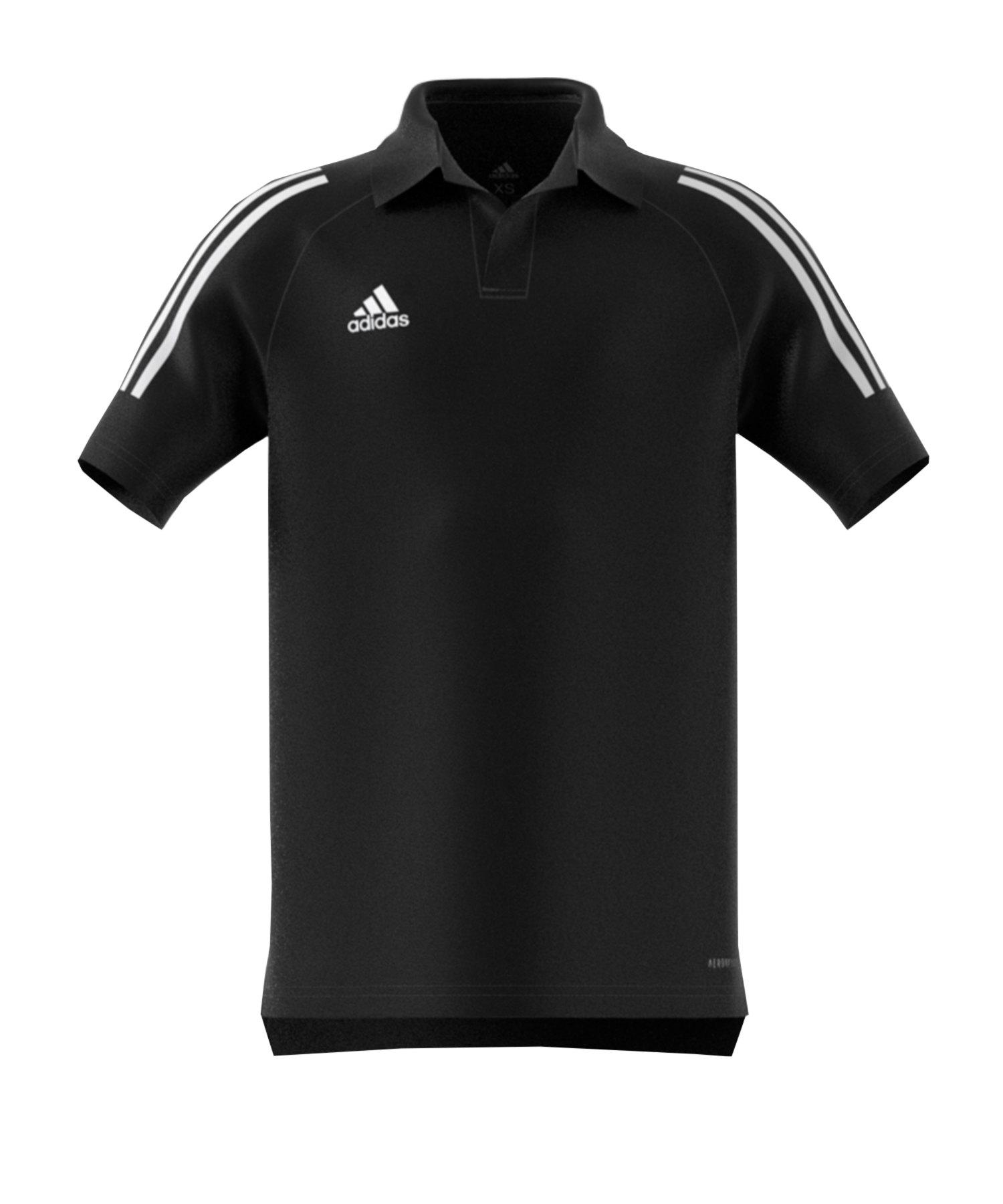 adidas Condivo 20 Poloshirt Kids Schwarz Weiss - schwarz