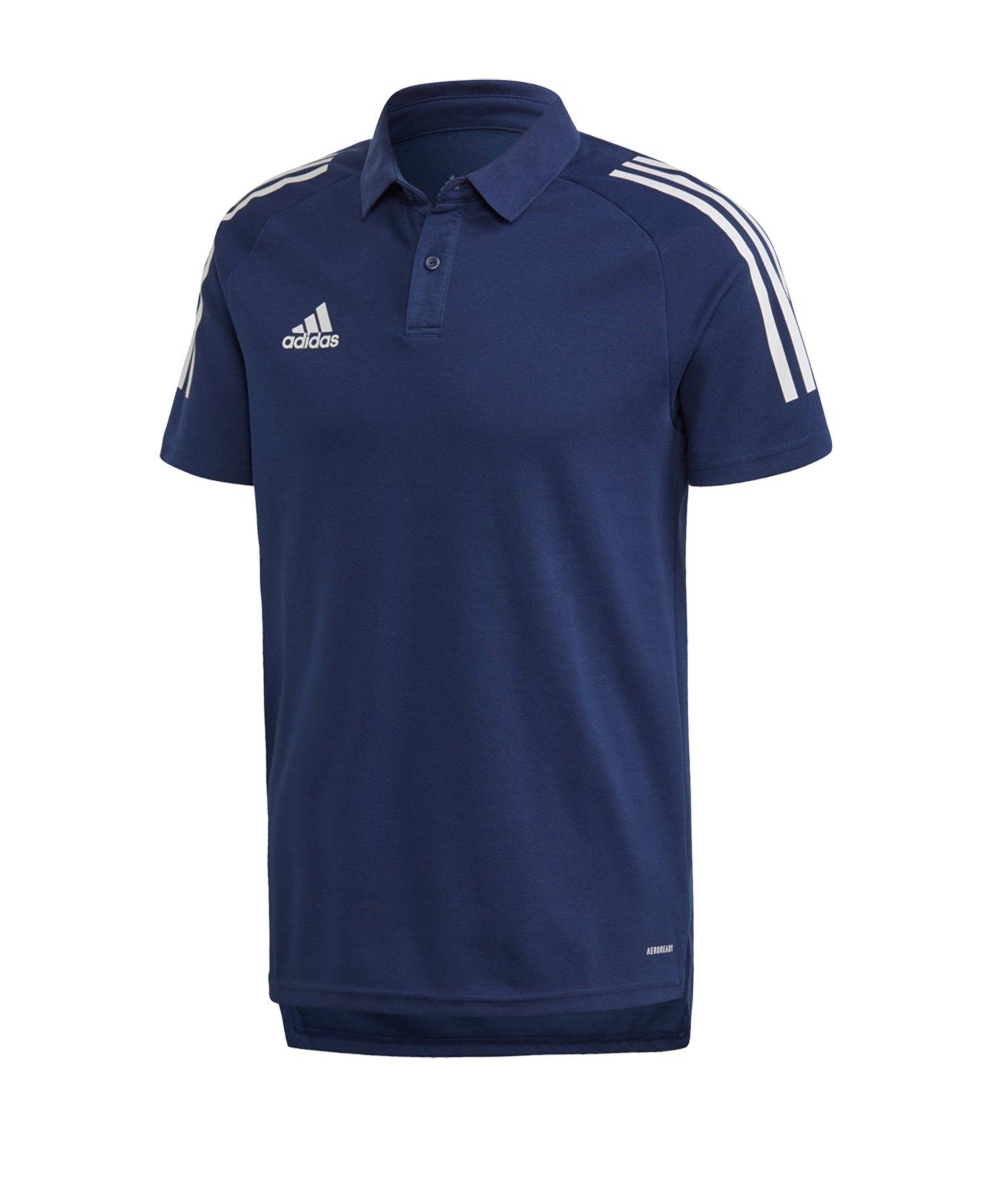 adidas Condivo 20 Poloshirt Dunkelblau Weiss - blau