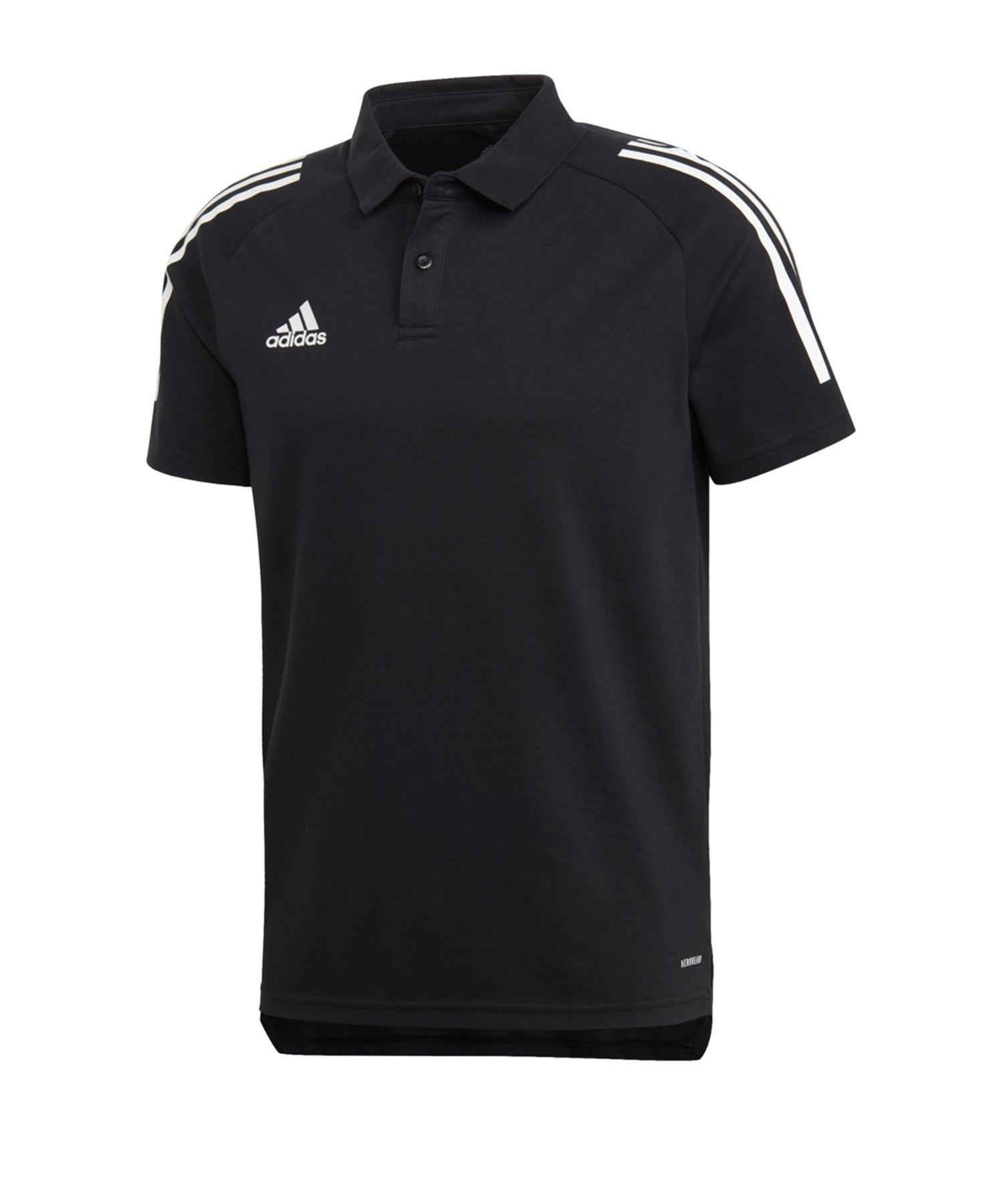 adidas Condivo 20 Poloshirt Schwarz Weiss - schwarz