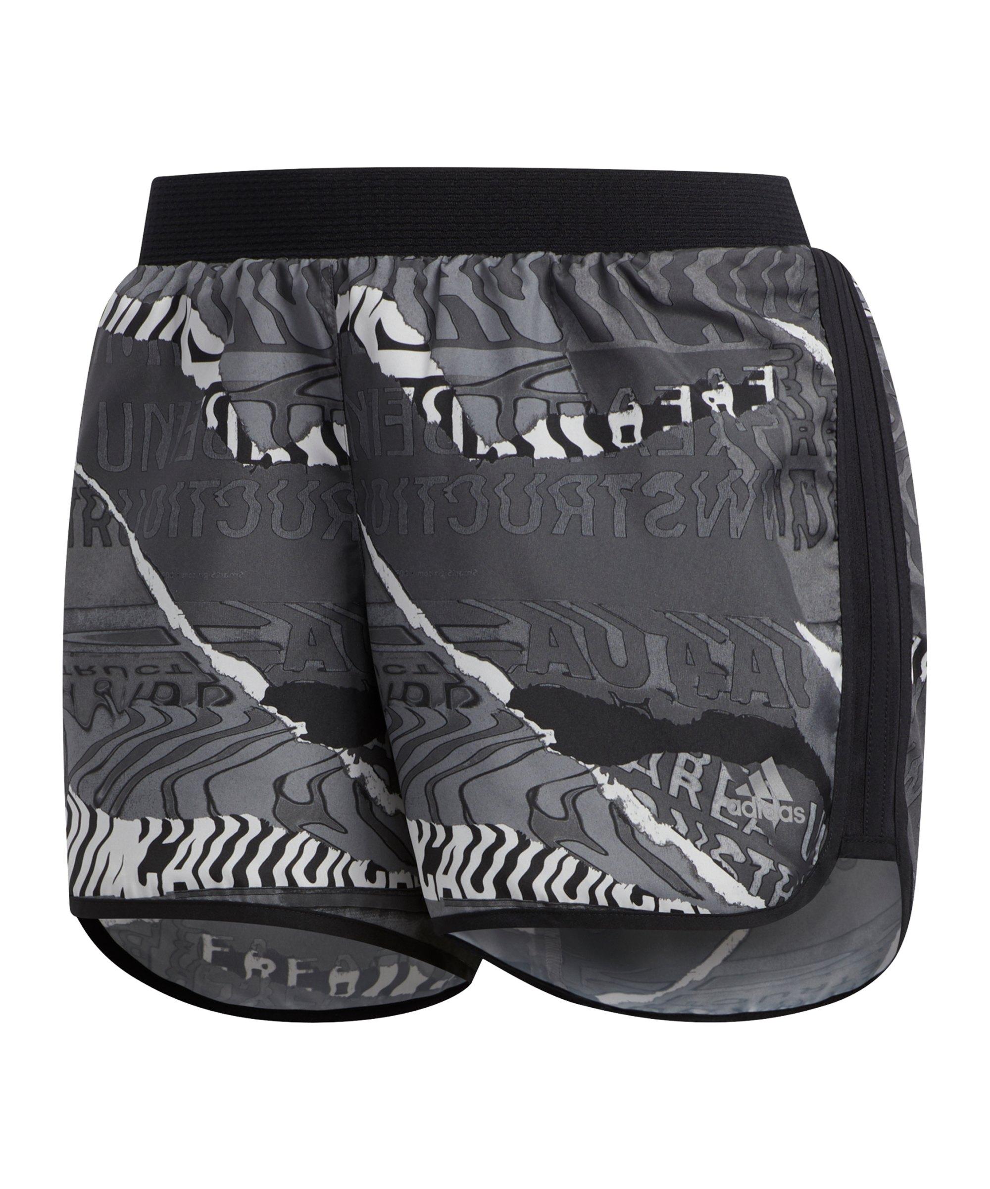 adidas M20 Short Running Damen Schwarz Grau - schwarz