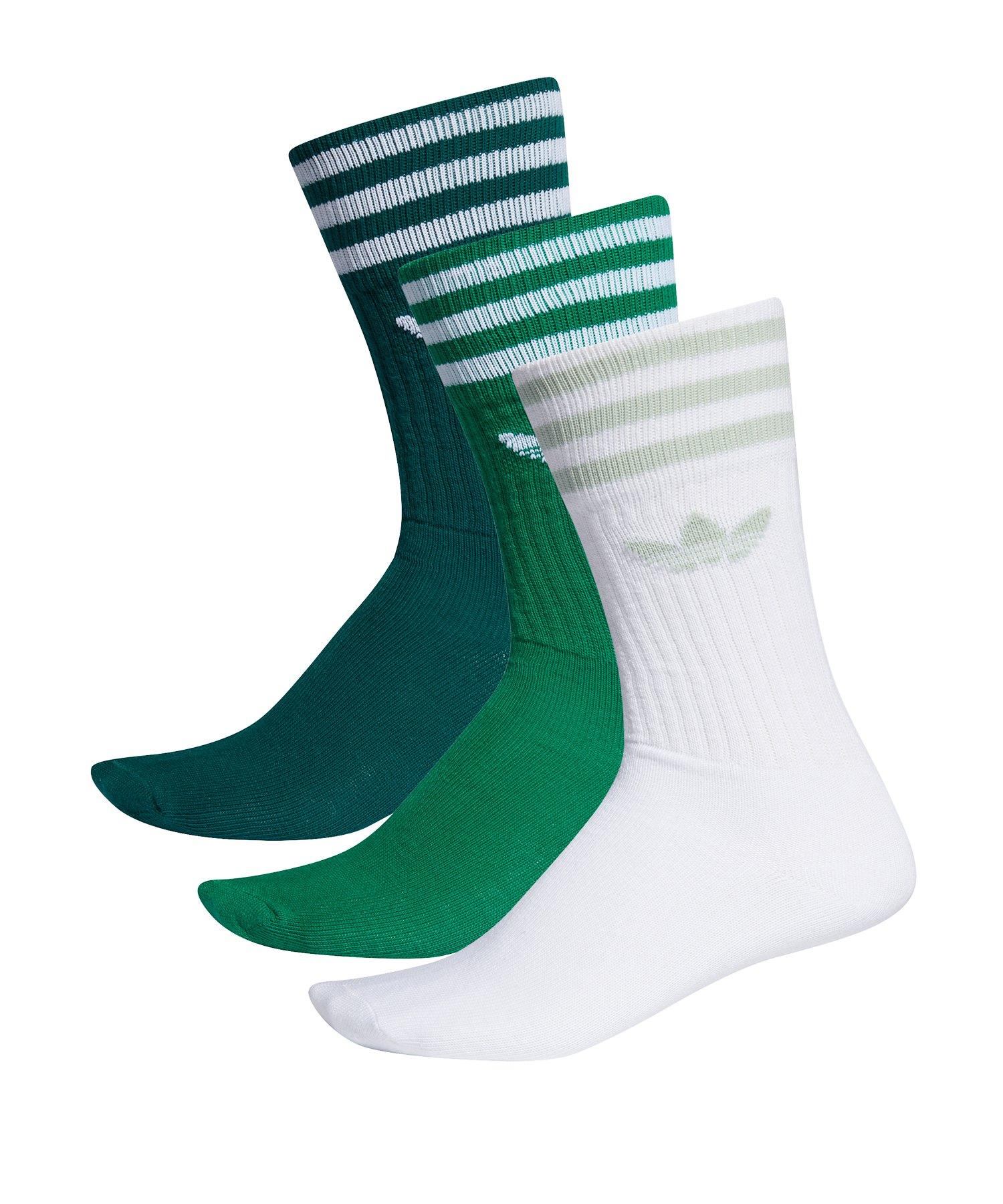 adidas Originals Solid Crew Socks Socken Grün - gruen