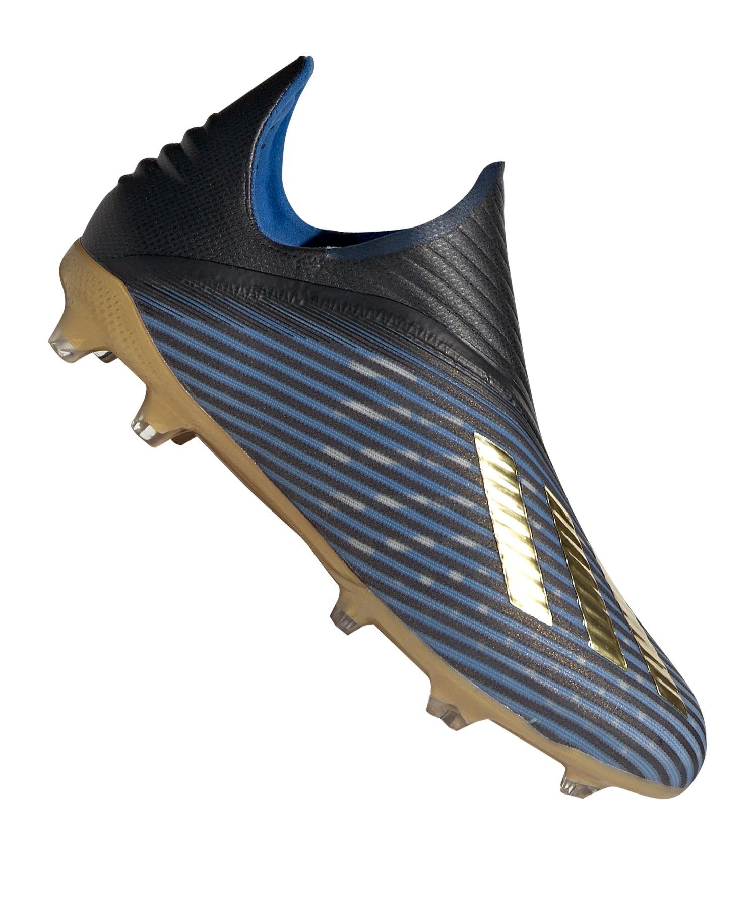 adidas X 19+ FG J Kids Blau Gold Schwarz - blau
