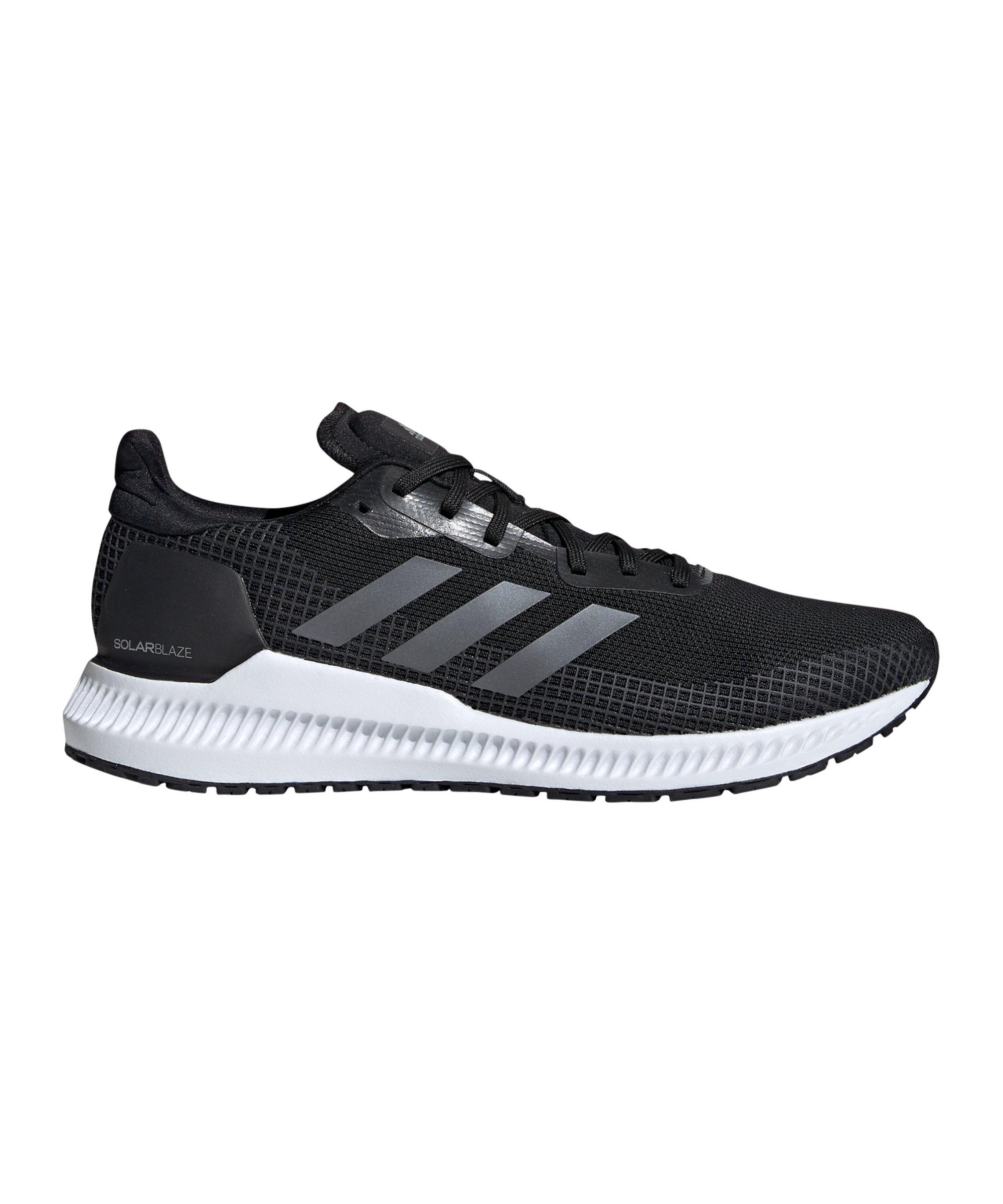 adidas Solar Blaze Running Schwarz Weiss - schwarz