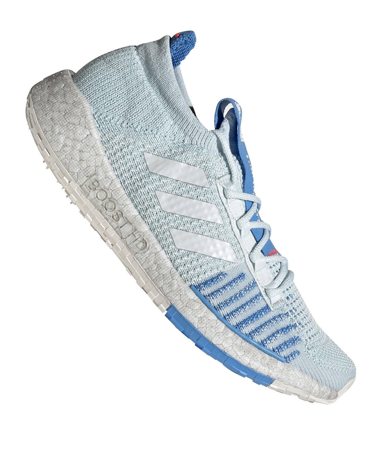 adidas Pulse Boost HD Running Damen Weiss Blau - weiss