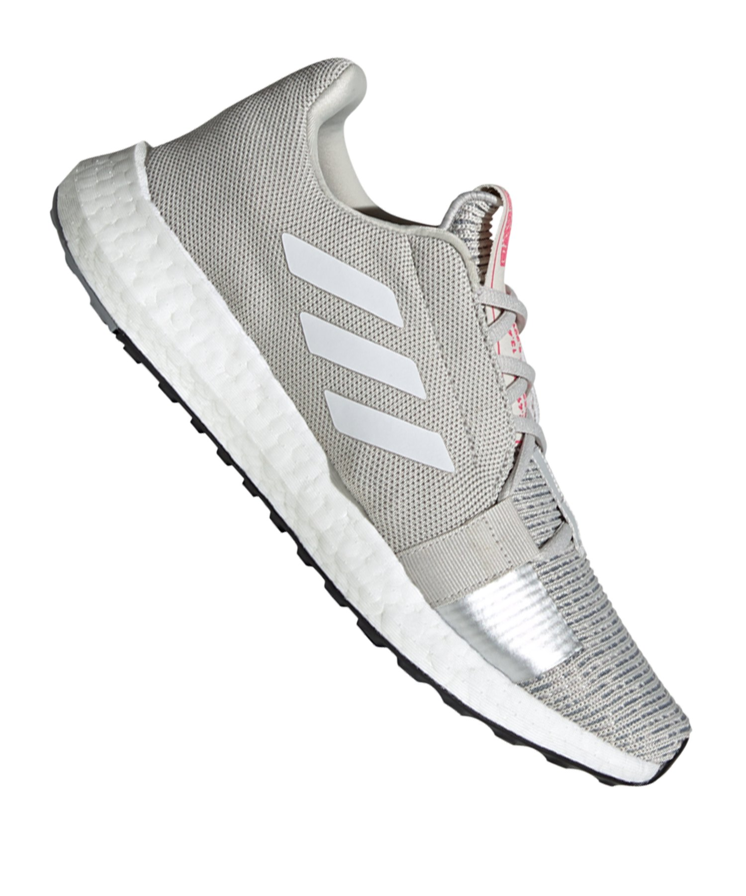adidas Sense Boost Go Running Damen Grau Weiss - grau