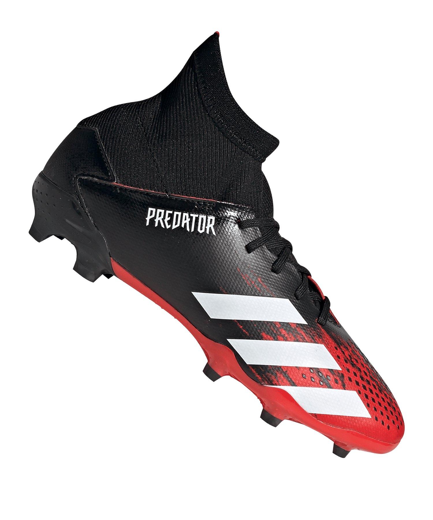 adidas Predator 20.3 FG J Kids Schwarz Weiss - schwarz