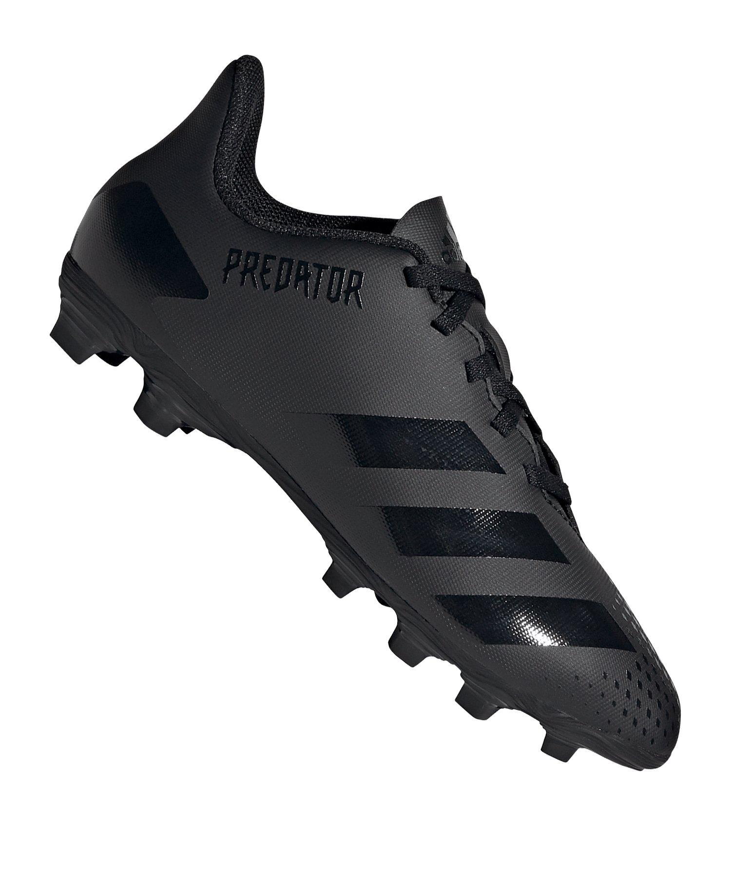 adidas Predator 20.4 FxG J Kids Schwarz Grau - schwarz