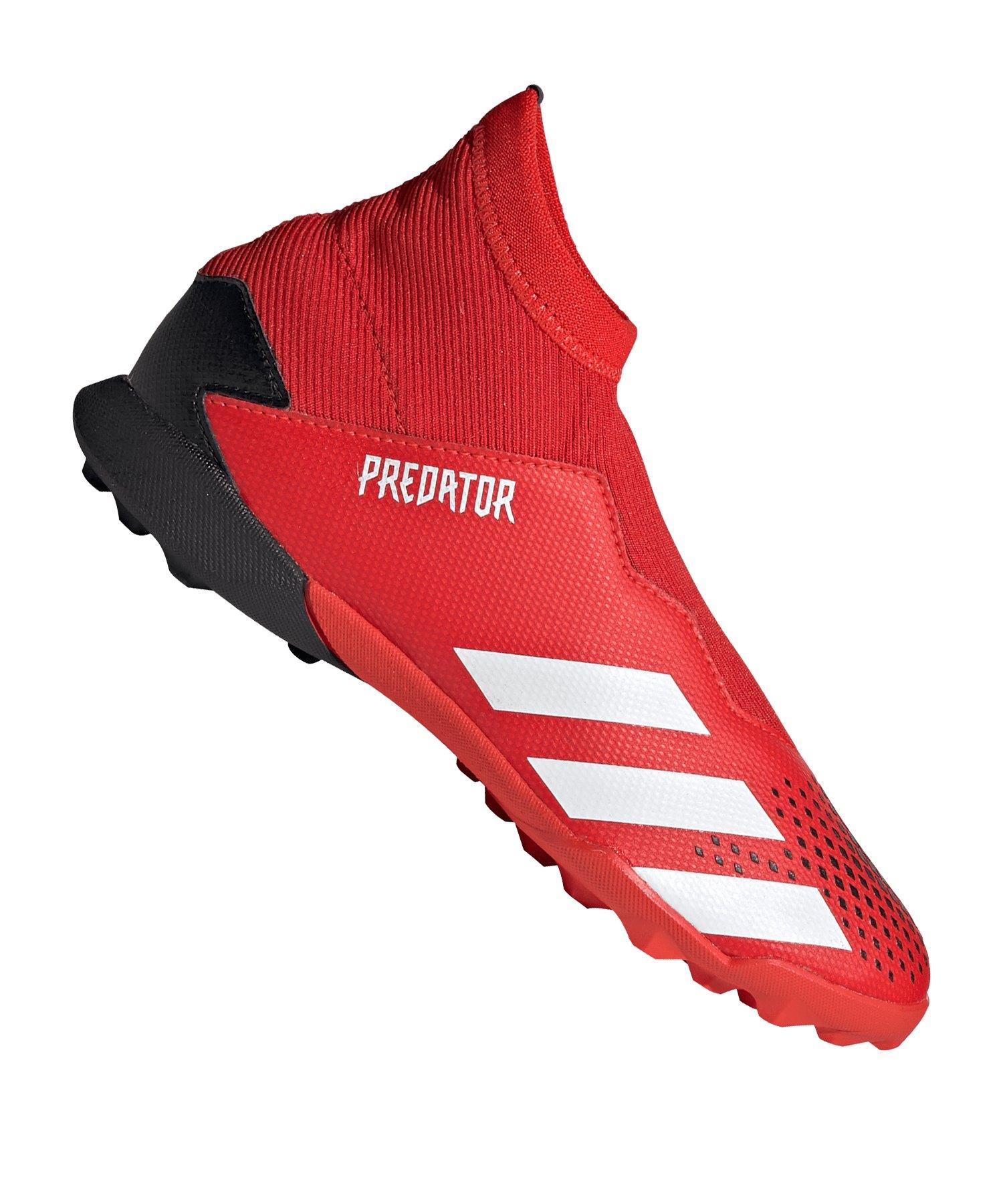 adidas Predator 20.3 LL TF J Kids Rot Schwarz - rot