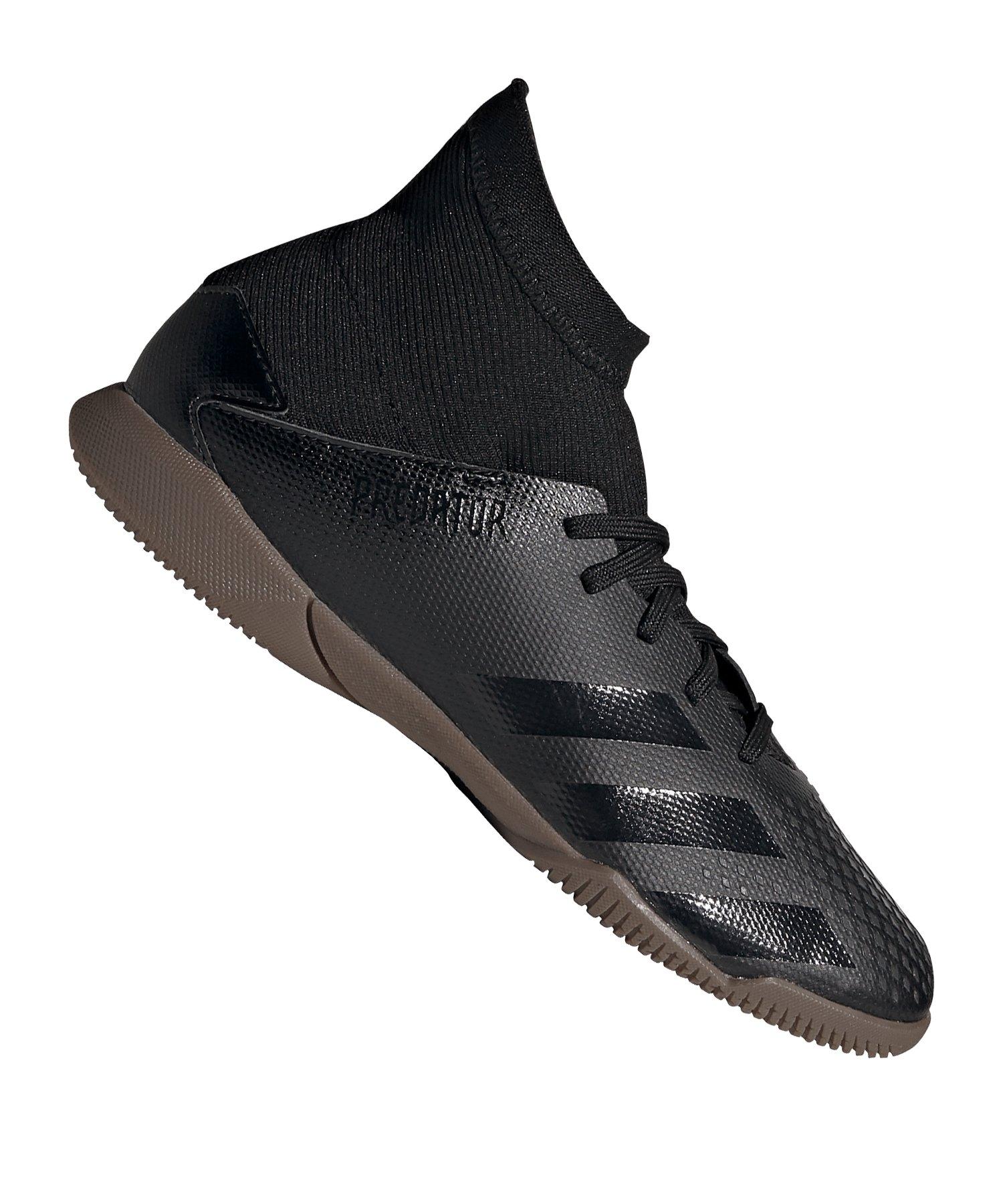 adidas Predator 20.3 IN Halle J Kids Schwarz Grau - schwarz