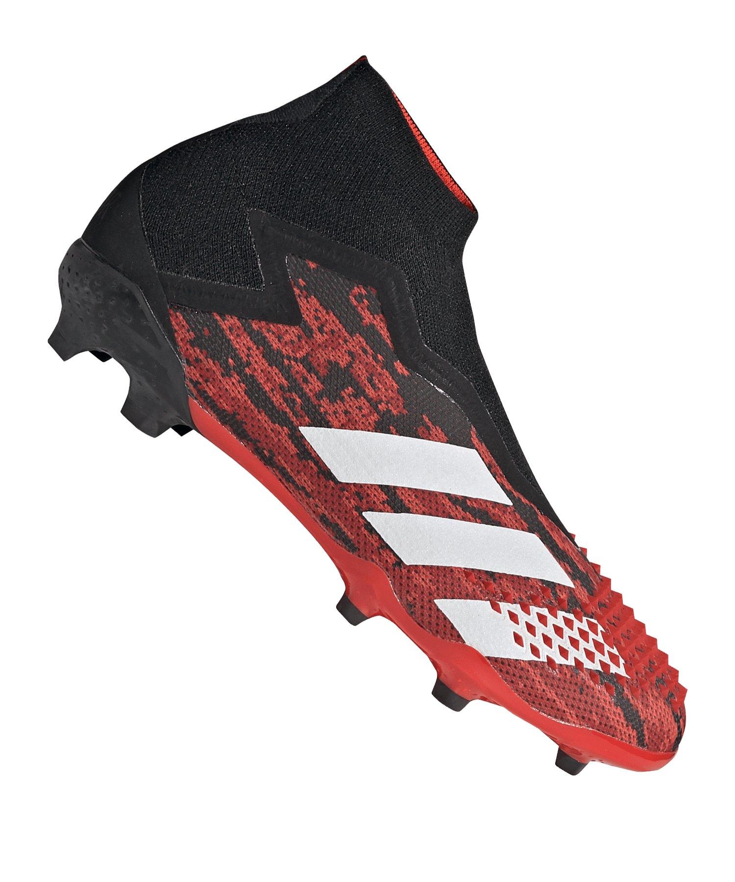 adidas Predator 20+ FG J Kids Schwarz Rot - schwarz