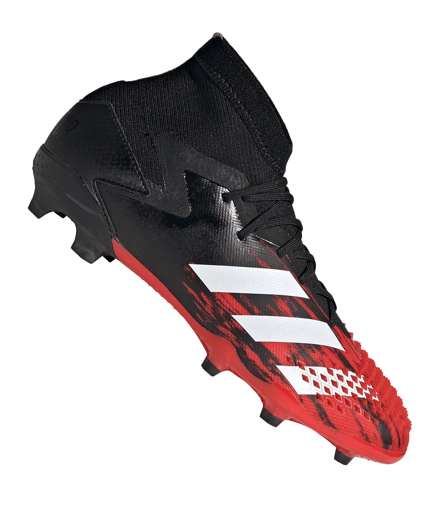 adidas Predator 20.1 FG J Kids Schwarz Rot - schwarz