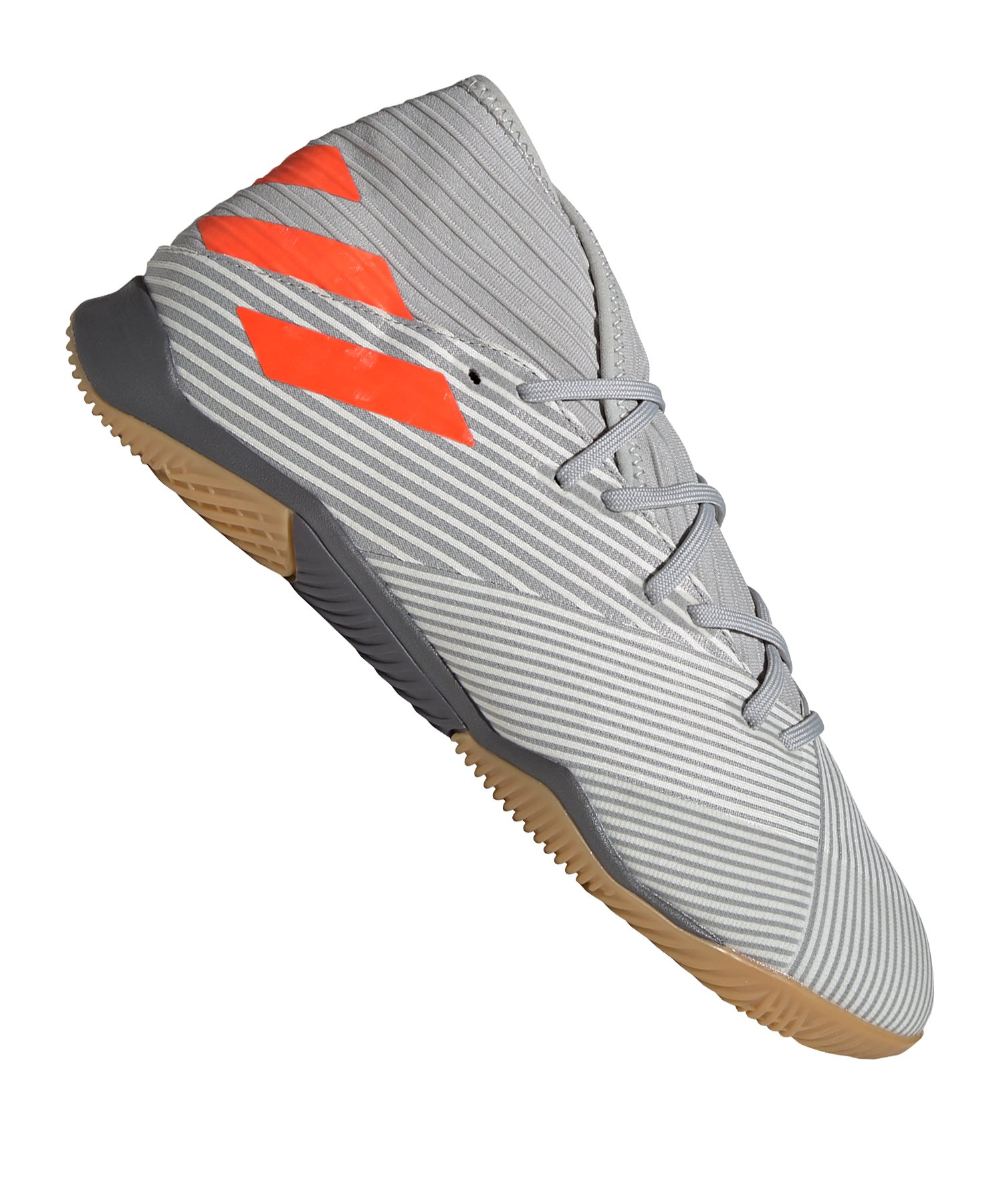 adidas NEMEZIZ 19.3 IN Halle Grau Orange - grau