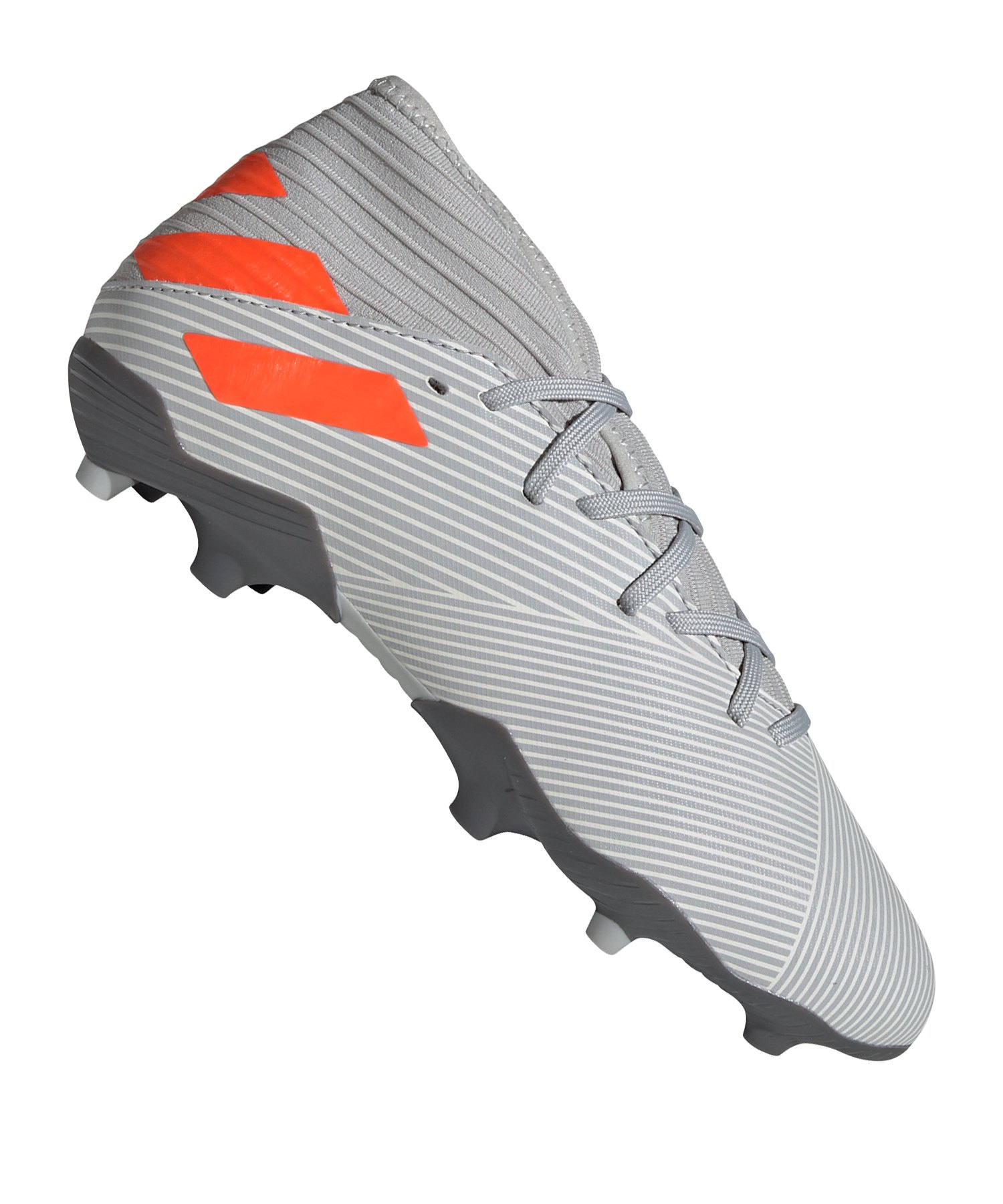adidas NEMEZIZ 19.3 FG J Kids Grau Orange - grau