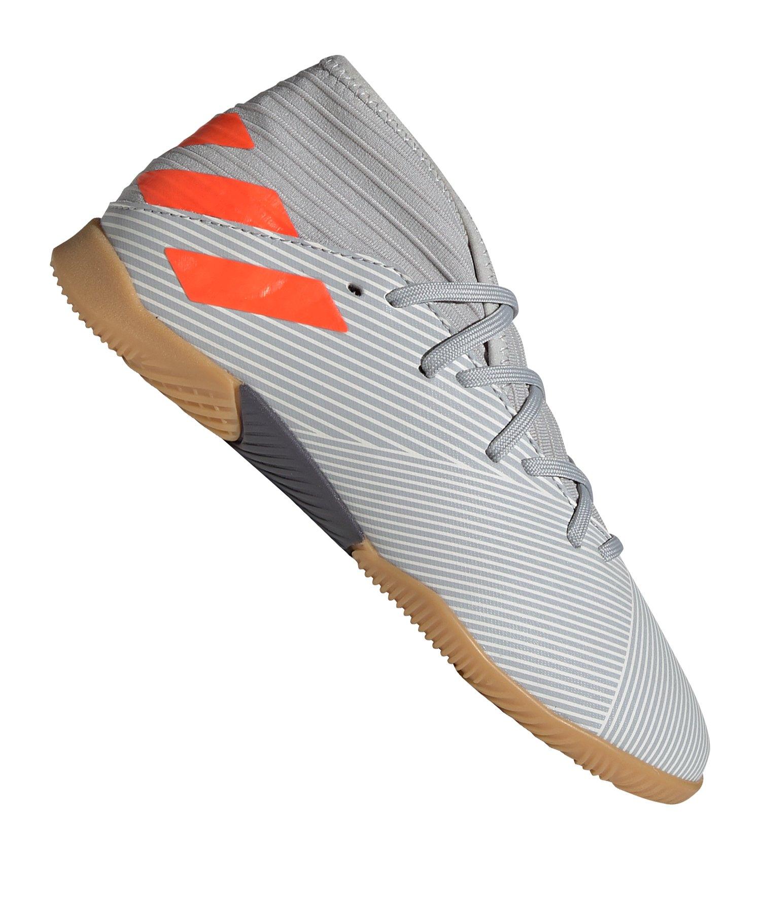 adidas NEMEZIZ 19.3 IN Halle J Kids Grau Orange - grau