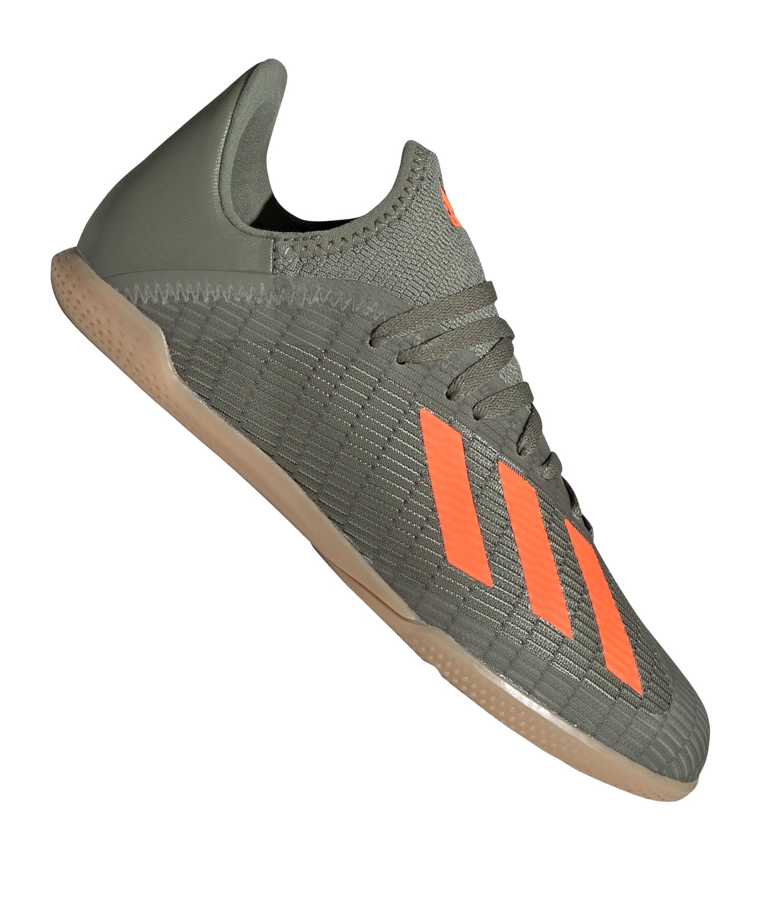 adidas X 19.3 IN Halle J Kids Grün Orange - gruen