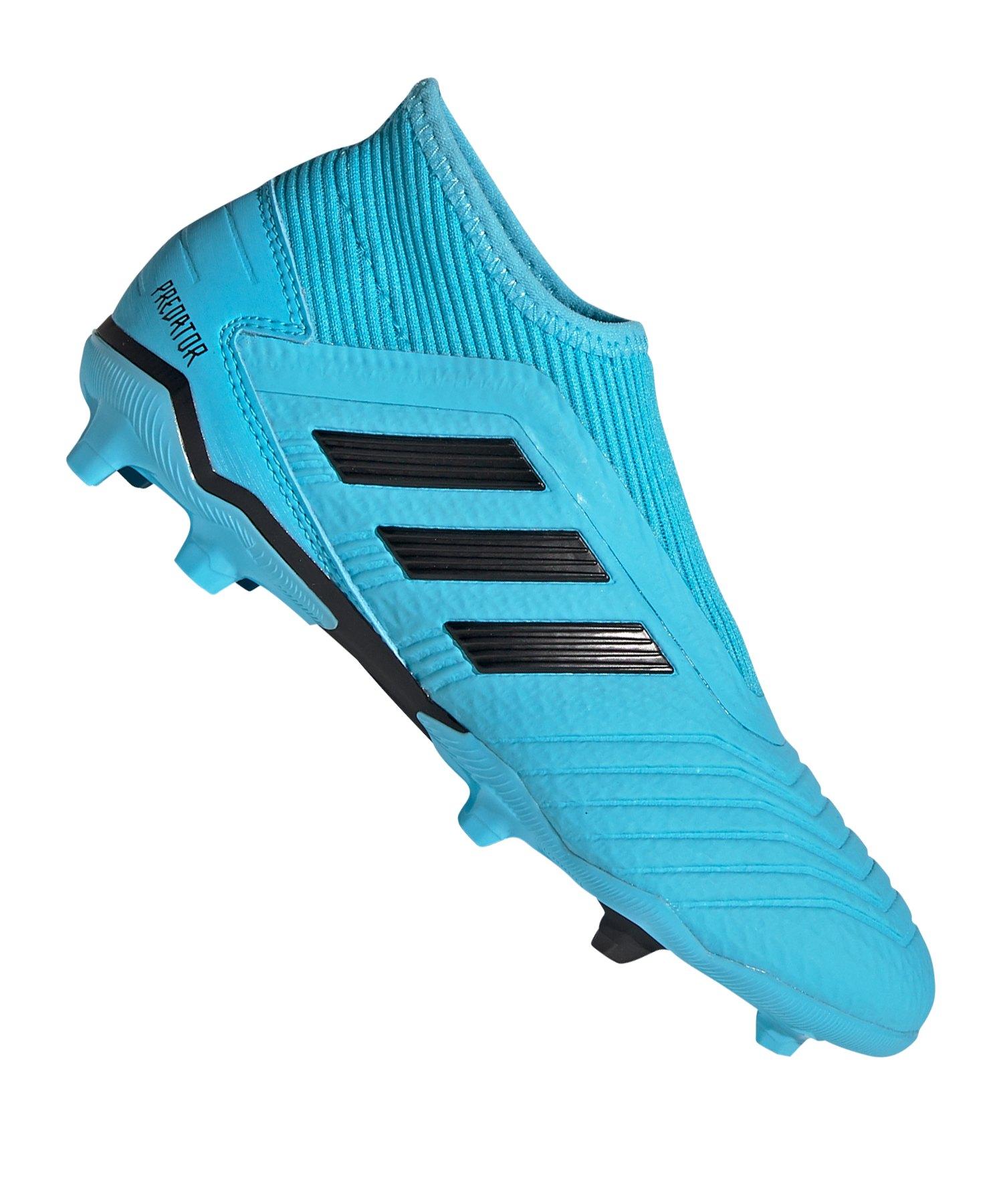 adidas Predator 19.3 LL FG Kids Blau Schwarz - blau