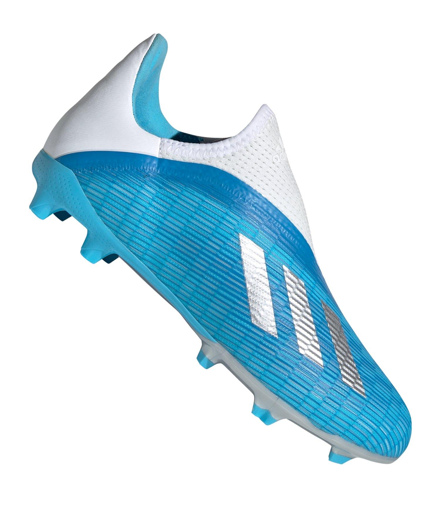 adidas X 19.3 LL FG J Kids Blau Weiss Silber - blau