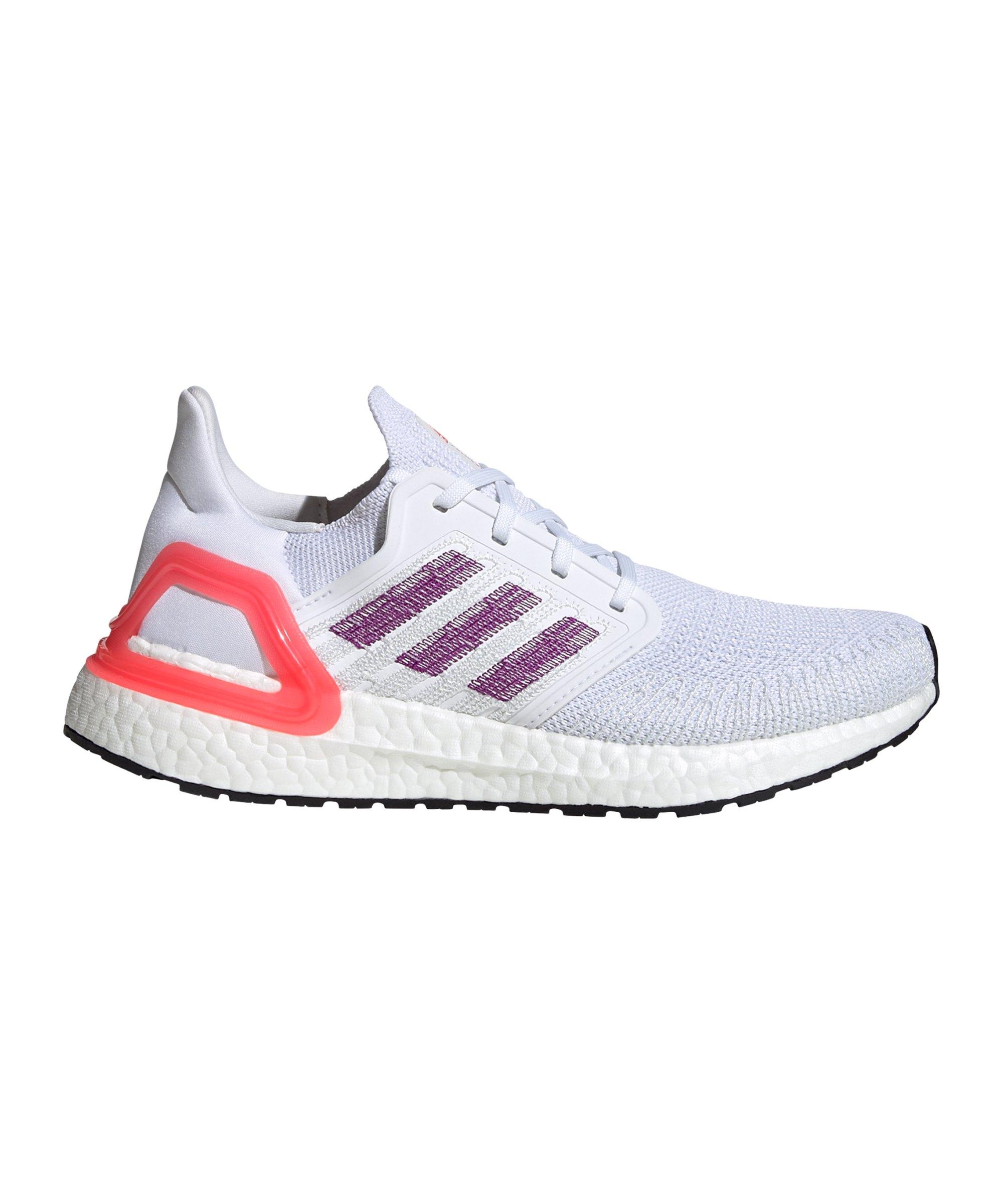 adidas Ultra Boost 20 Running Damen Weiss Pink - weiss