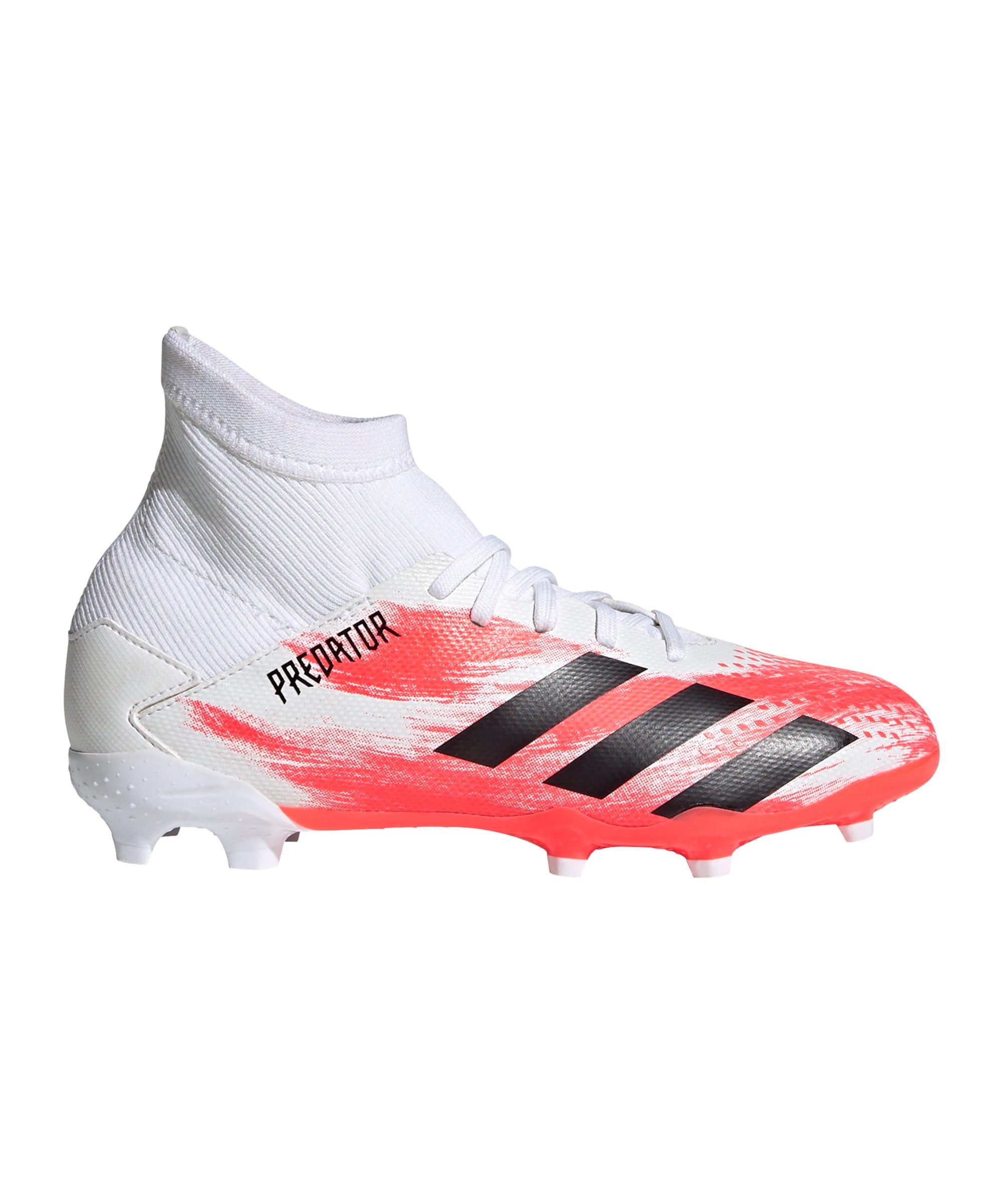 adidas Predator Uniforia 20.3 FG J Kids Weiss Rot - weiss