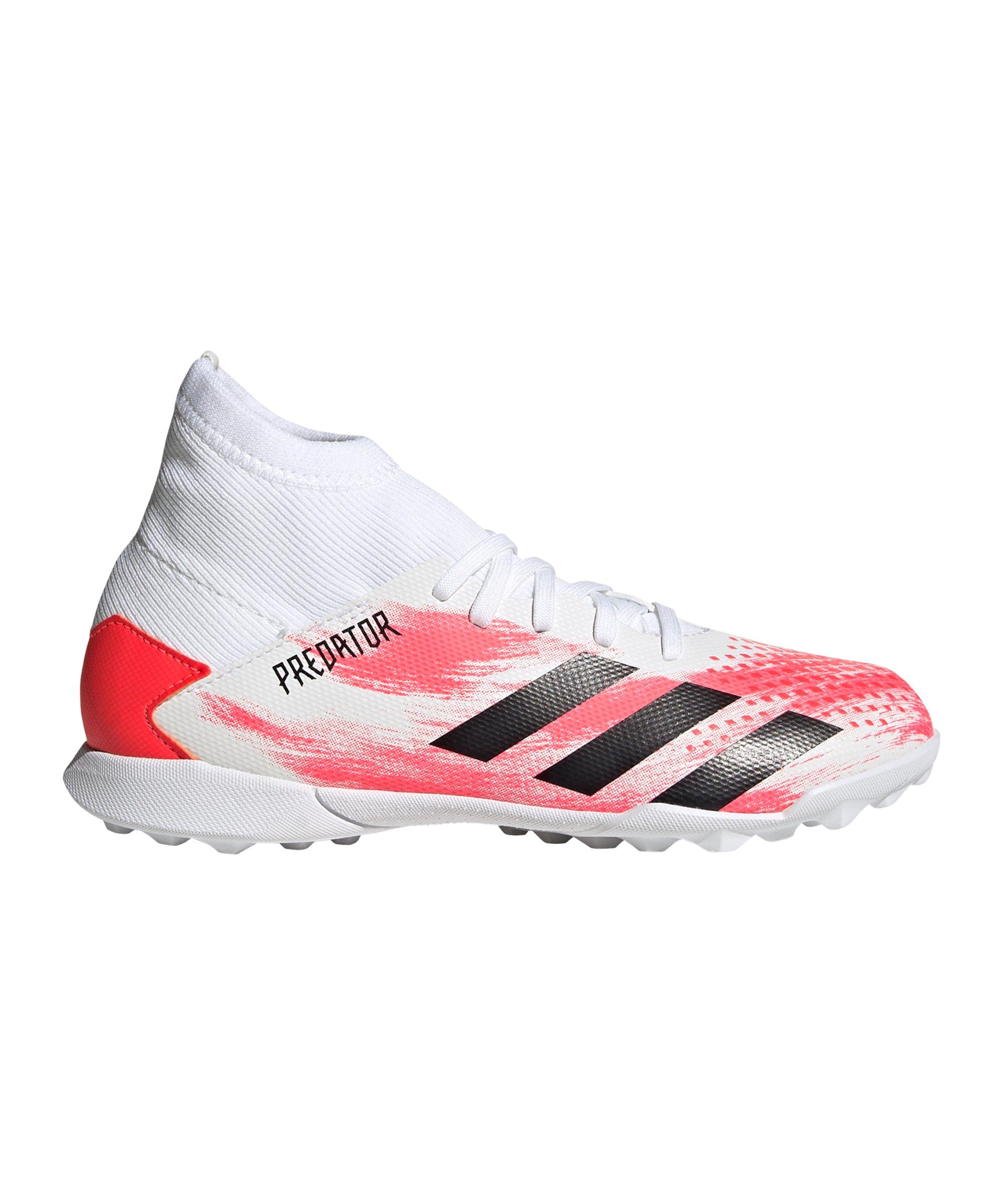 adidas Predator Uniforia 20.3 TF J Kids Weiss Rot - weiss