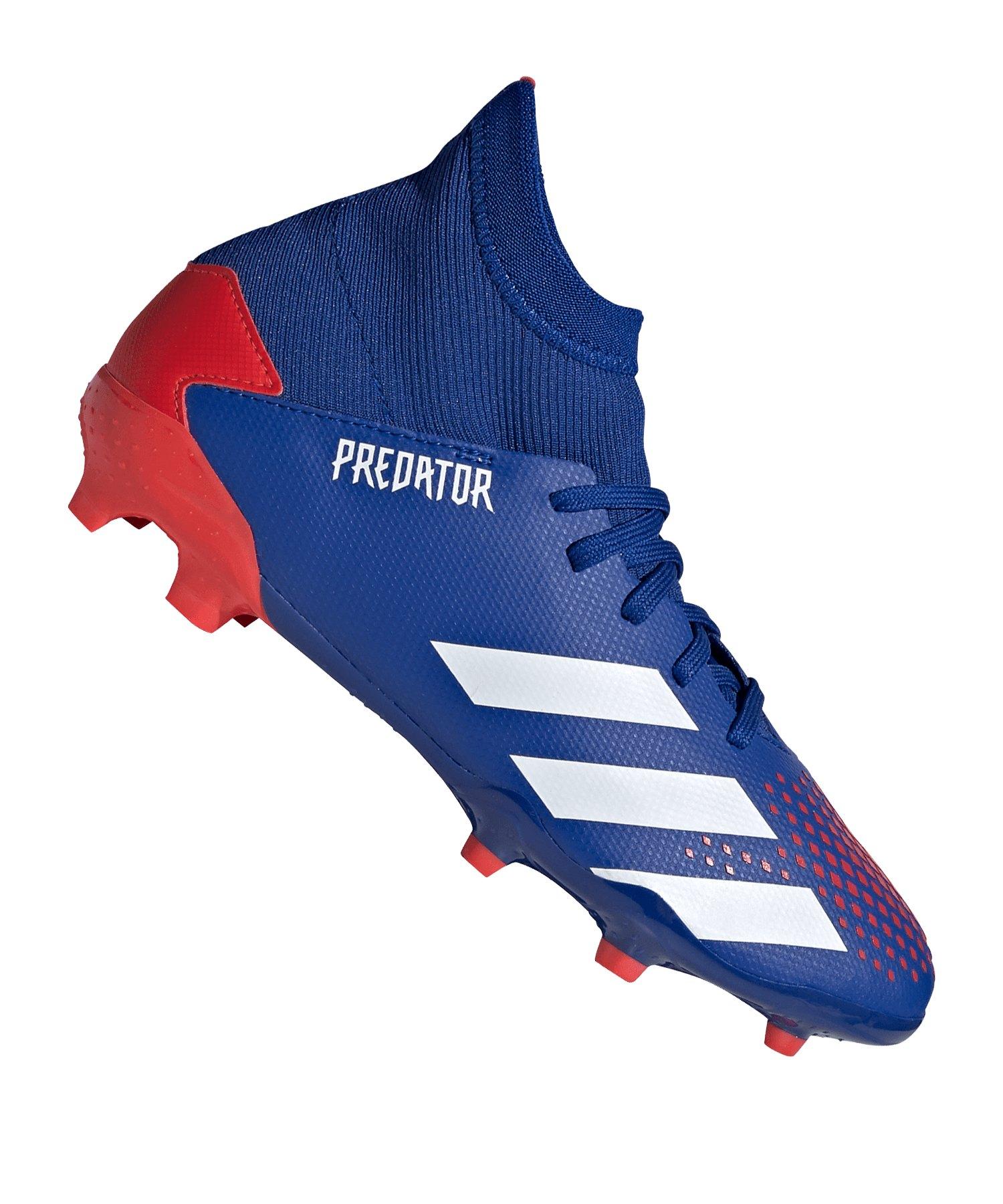 adidas Predator 20.3 FG J Kids Blau Rot - blau