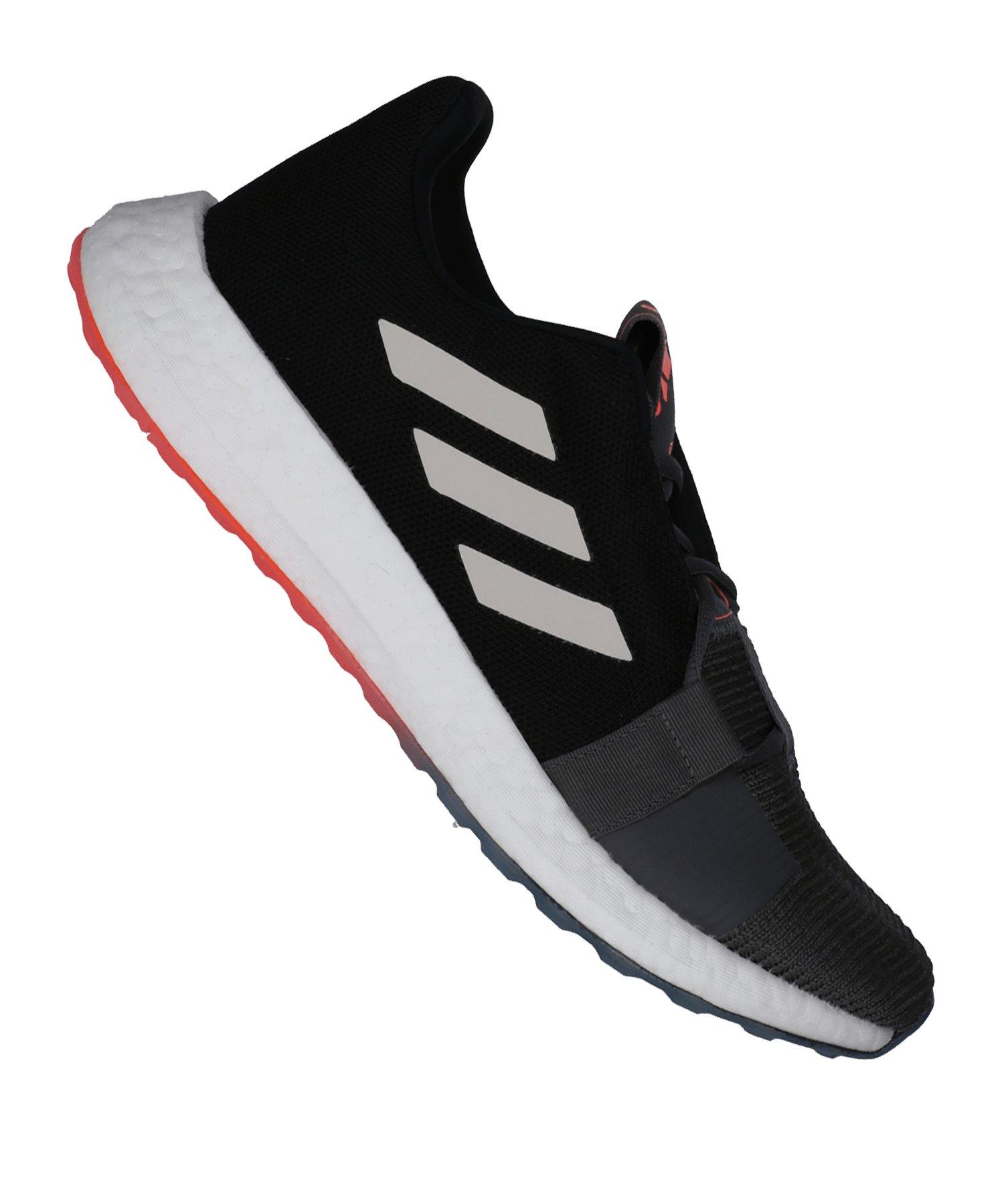 adidas Sense Boost Go Running Grau Rot - grau