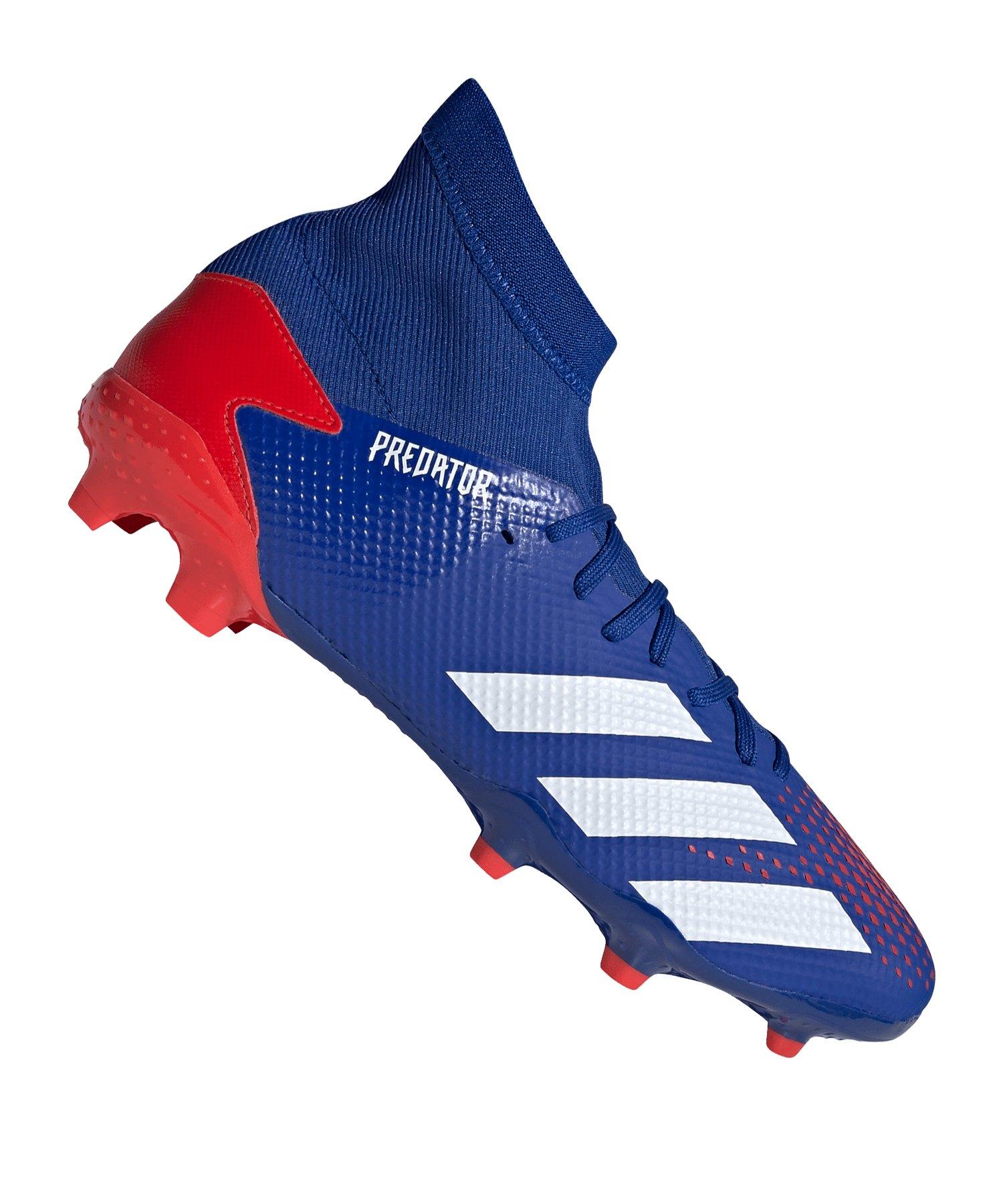 adidas Predator 20.3 FG Blau Rot - blau