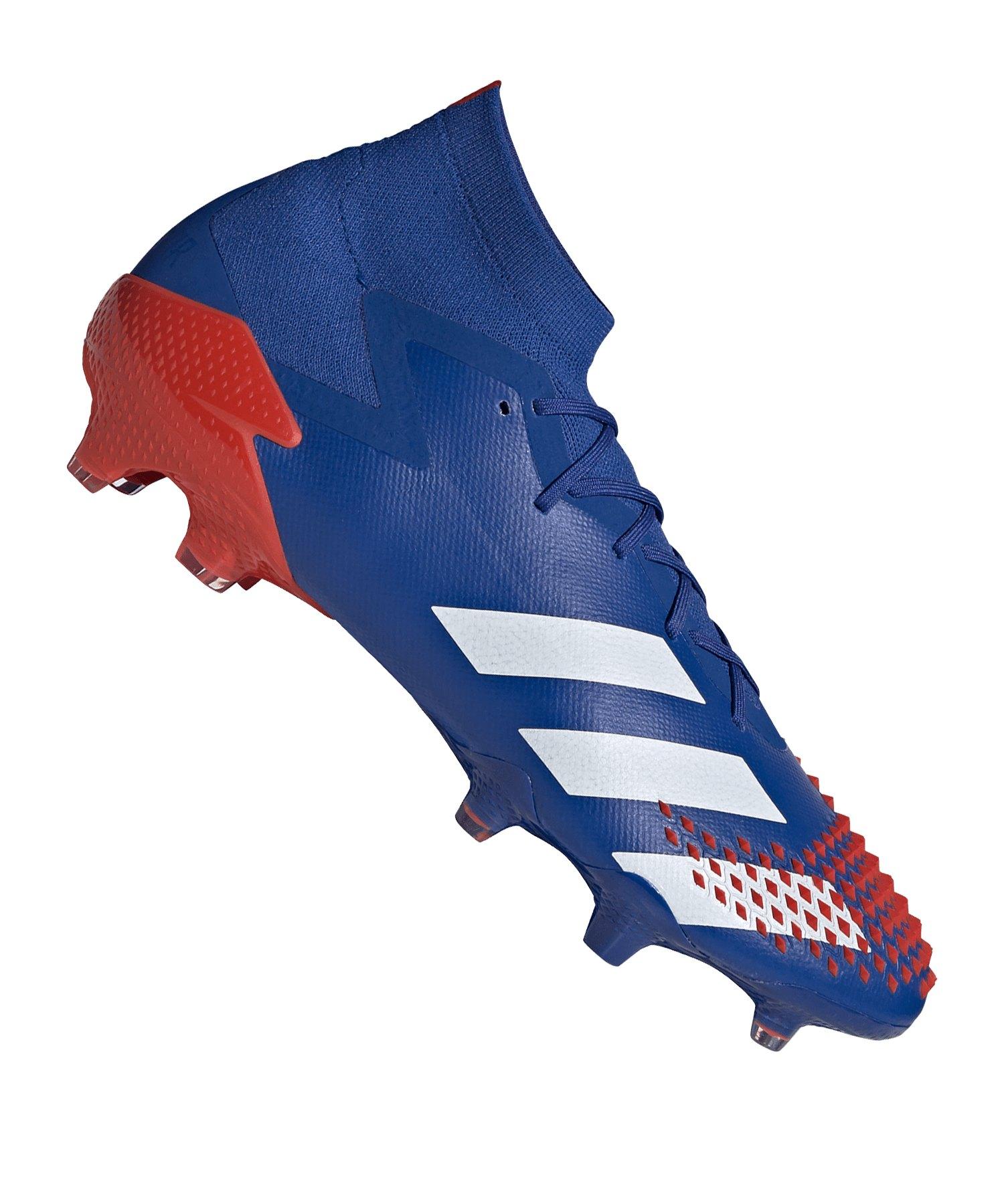adidas Predator 20.1 FG Blau Rot - blau