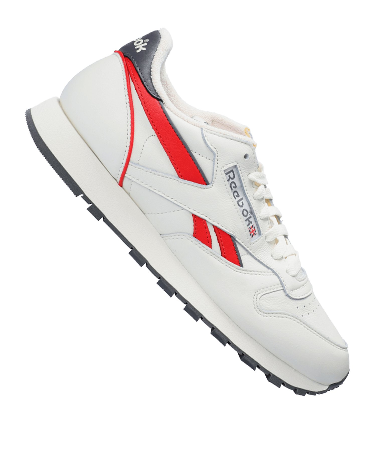 Reebok Classic Leather MU Sneaker Grau Rot - grau