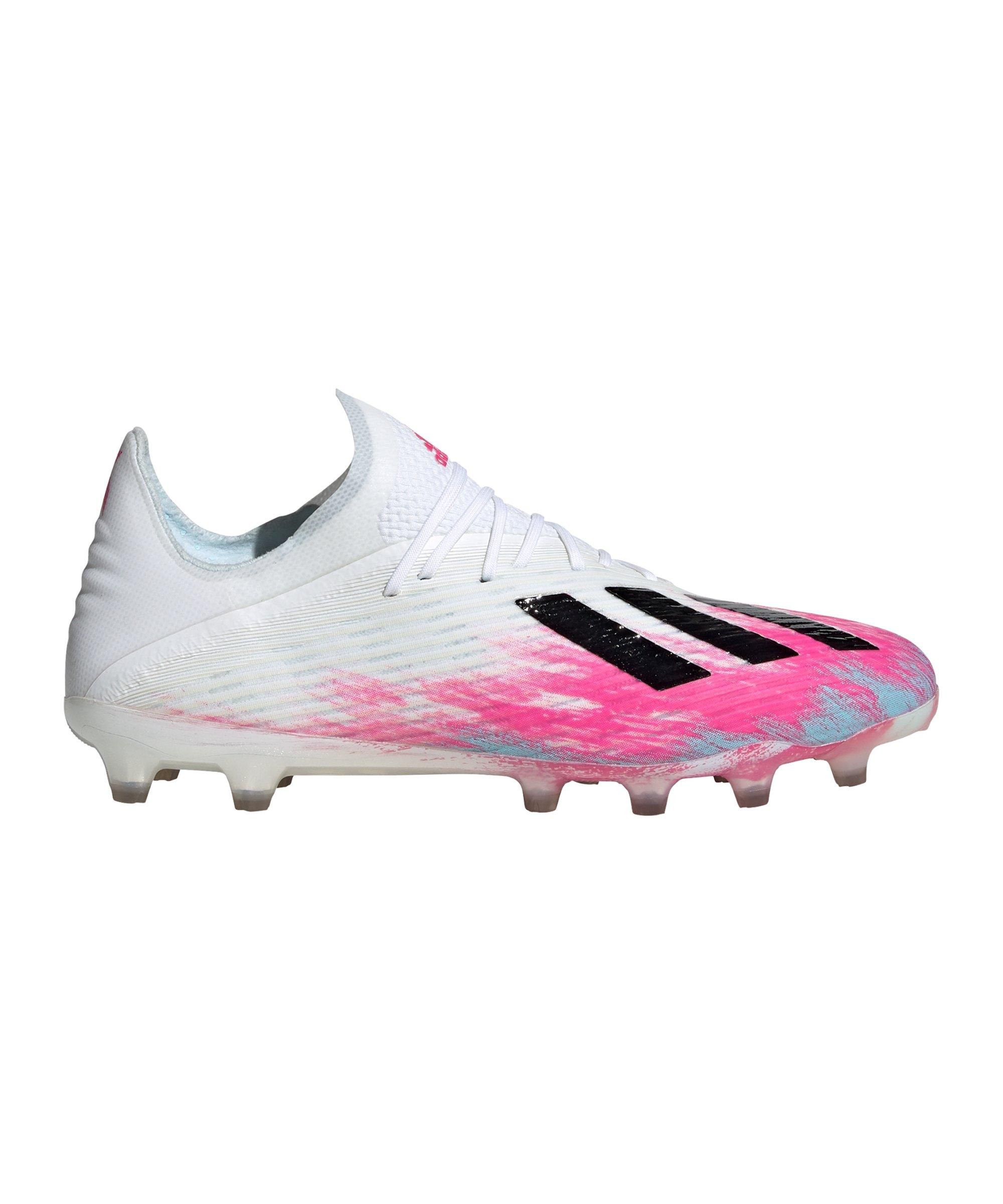adidas X Uniforia 19.1 AG Weiss Pink - weiss
