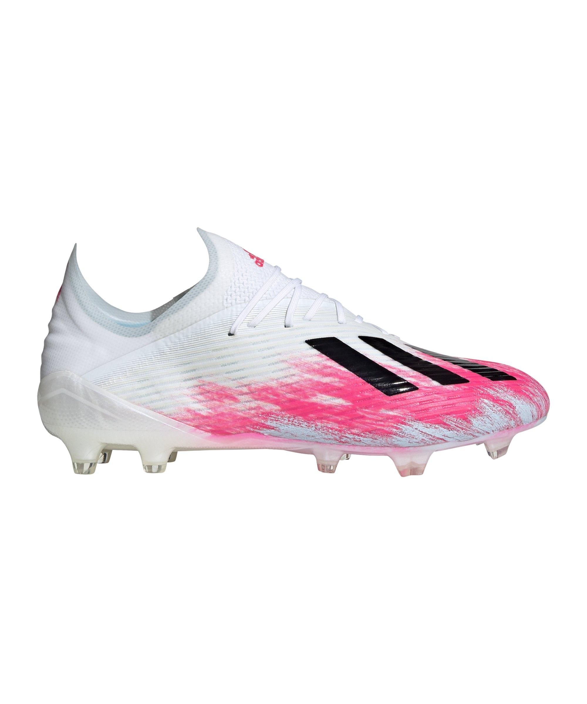 adidas X Uniforia 19.1 FG Weiss Pink - weiss