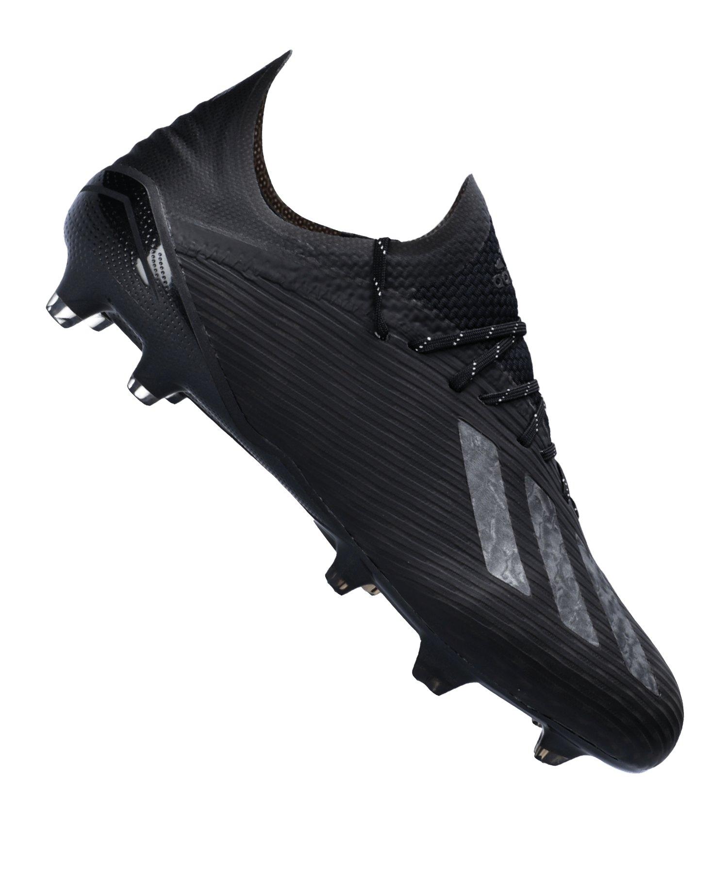 adidas X 19.1 FG Schwarz Silber - schwarz