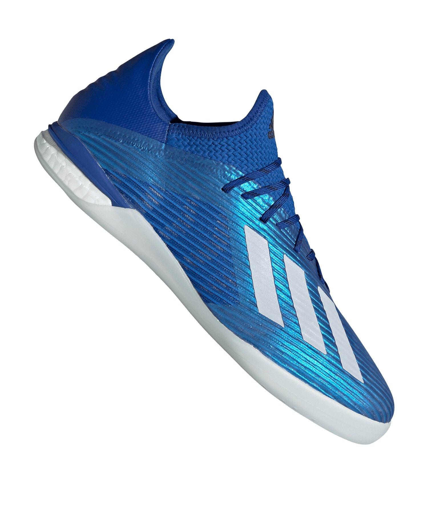 adidas X 19.1 IN Halle Blau Weiss - blau