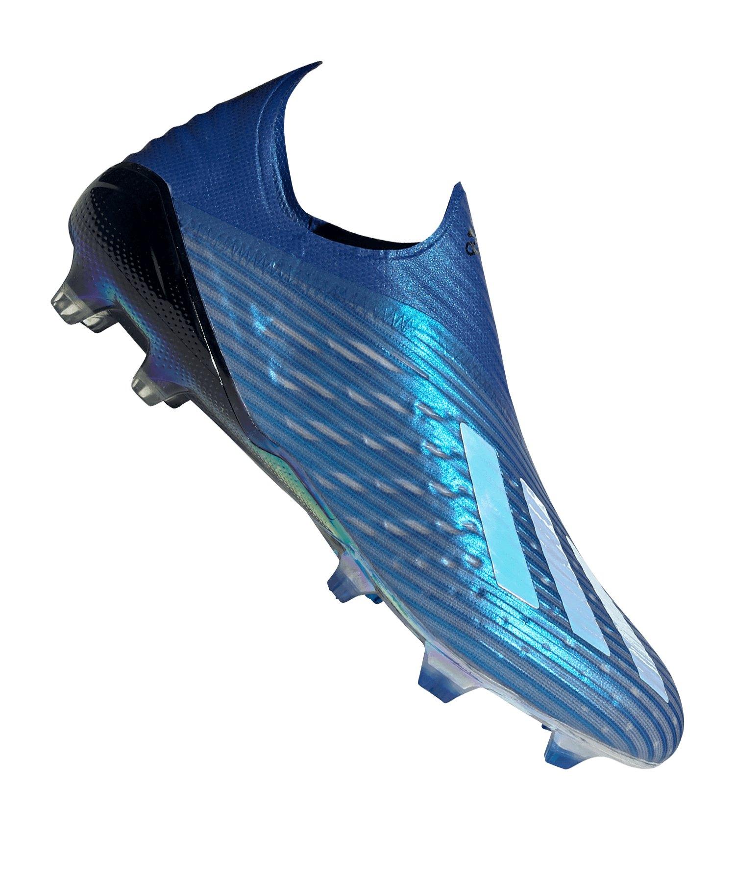 adidas X 19+ FG Blau Schwarz - blau