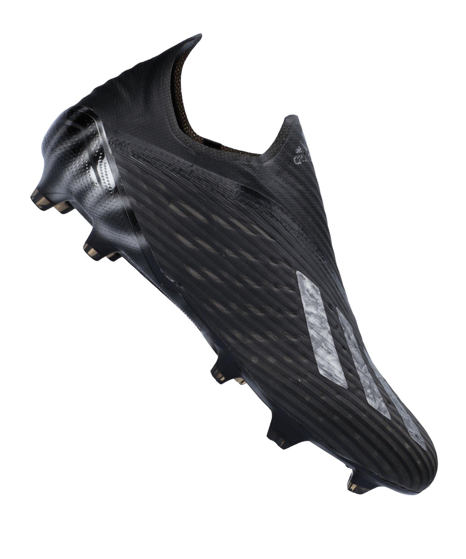 adidas X 19+ FG Schwarz Silber - schwarz